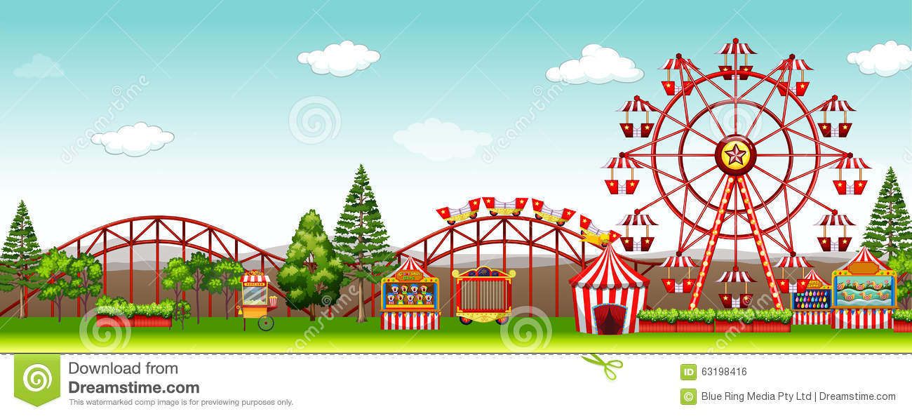 Amusement park at day time