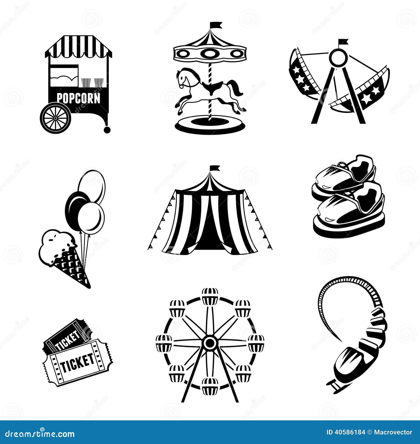Amusement Park Elements Stock Vector Image 40586184