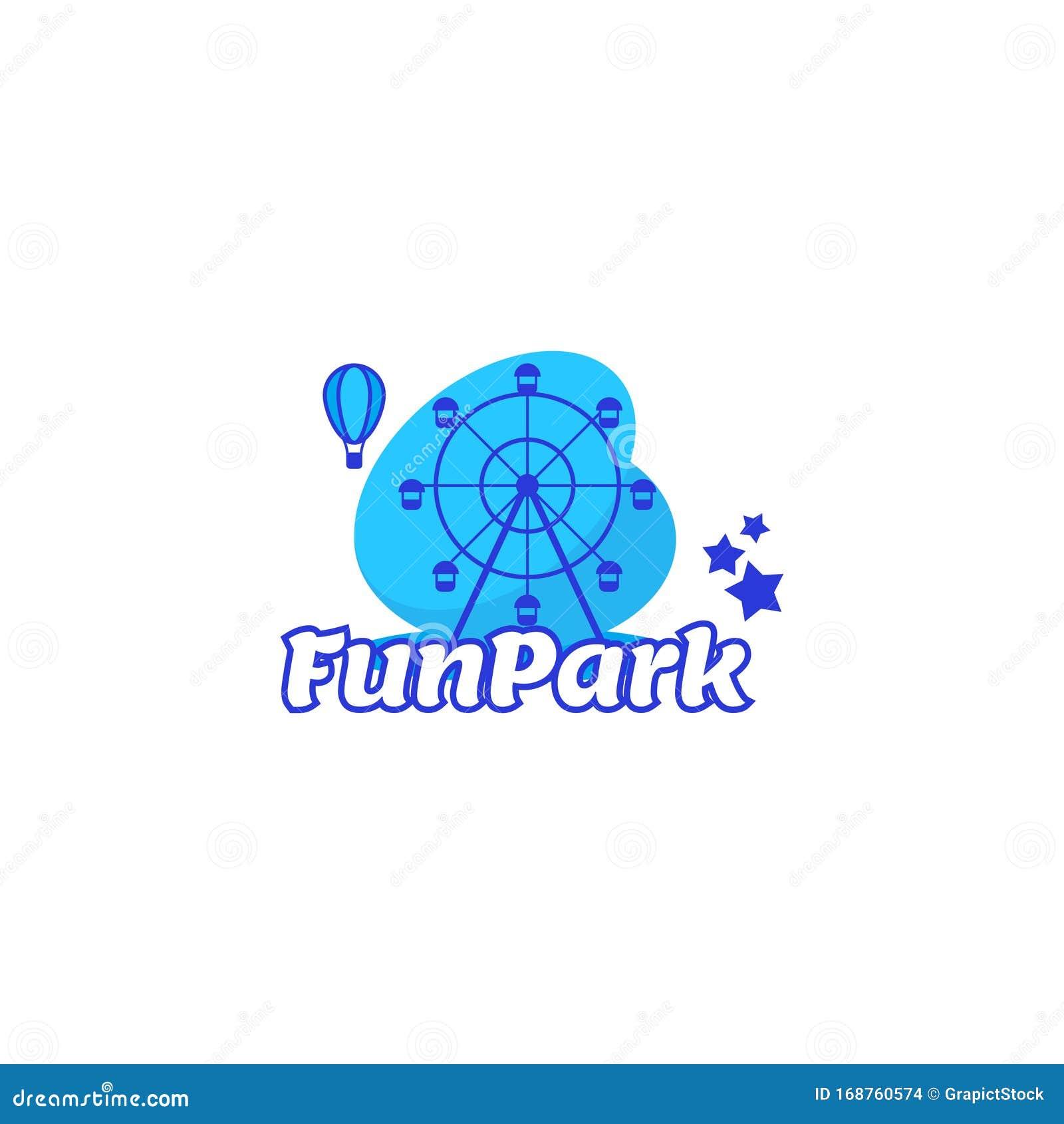 Amusement Park Fun Park Or Adventure Park Stock Vector Illustration Of Banner Kids 168760574