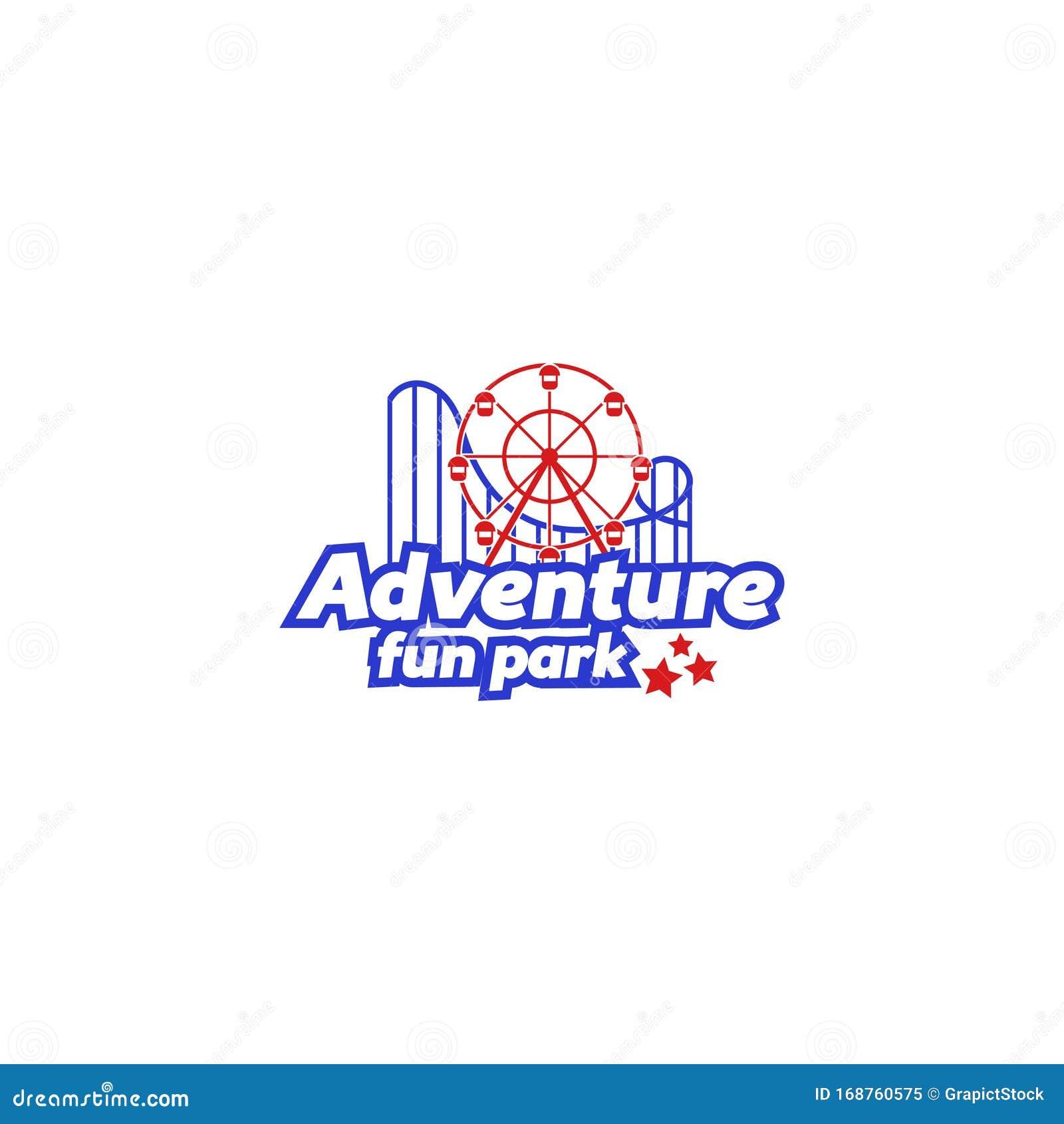 Amusement Park Fun Park Or Adventure Park Stock Vector Illustration Of Adventure Ferris 168760575