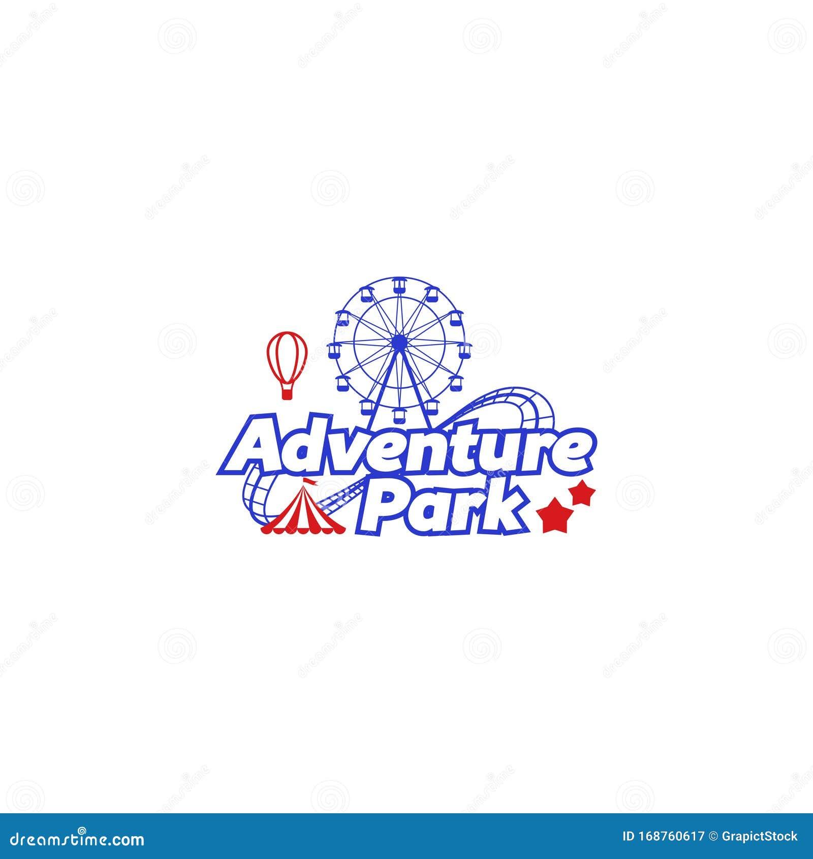 Amusement Park Fun Park Or Adventure Park Stock Vector Illustration Of Ferris Fair 168760617