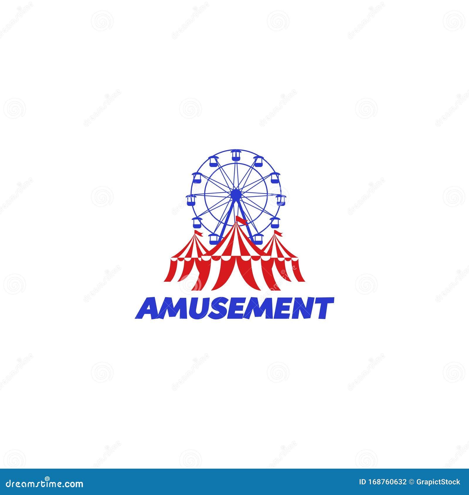 Amusement Park Fun Park Or Adventure Park Stock Vector Illustration Of Concept Circus 168760632
