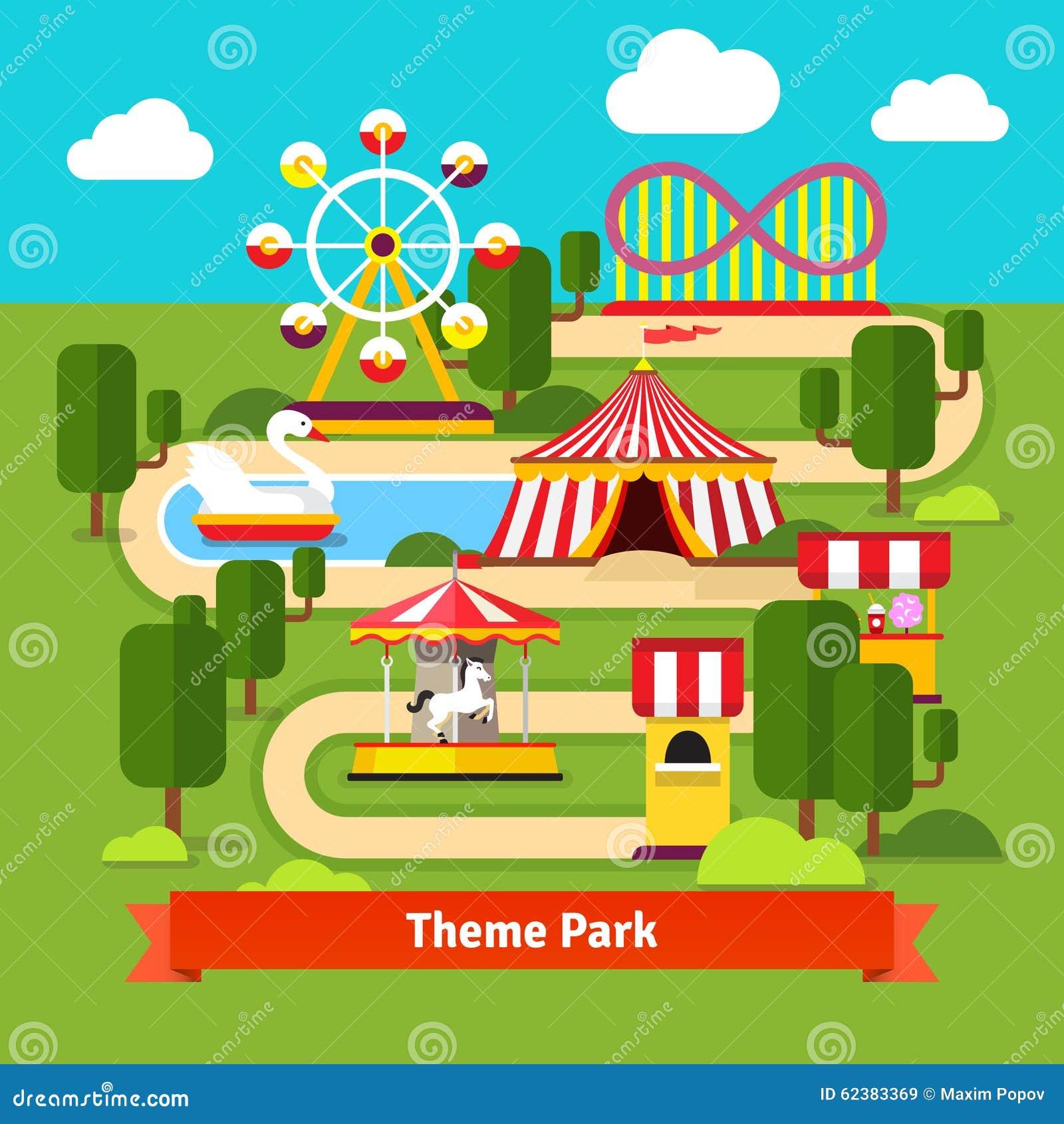 Amusement Park Map, Fe...