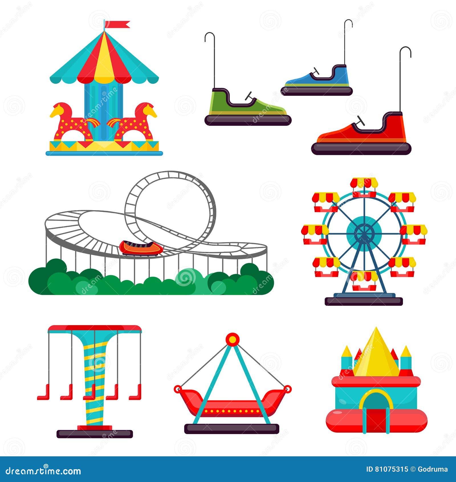 Cartoon Amusement Park Car Pictures Car Canyon