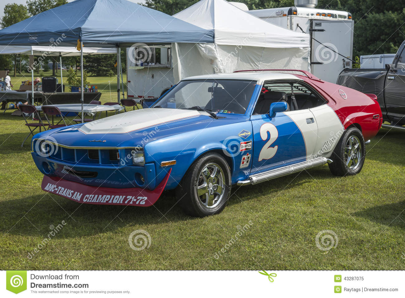 amx race car editorial image image of painted grill 43287075. Black Bedroom Furniture Sets. Home Design Ideas