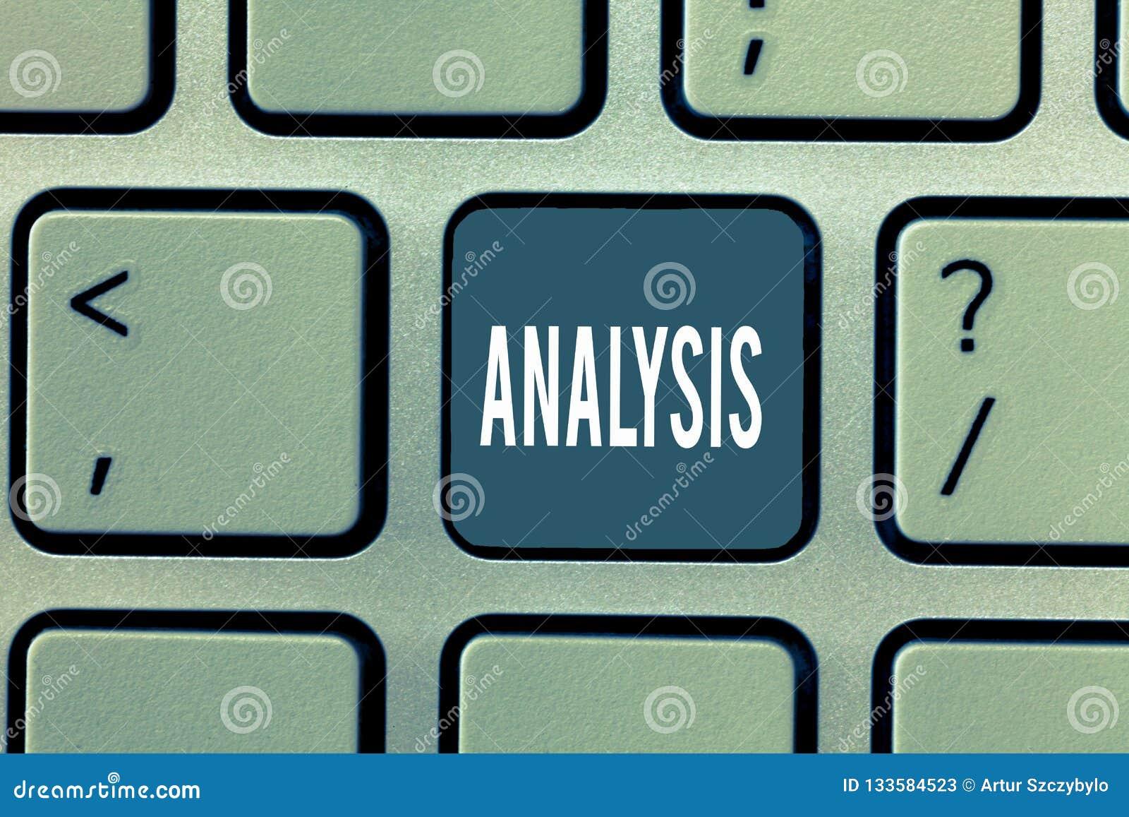 Análise do texto da escrita da palavra Conceito do negócio para avaliação detalhada do exame de todo o estudo completo dos elemen