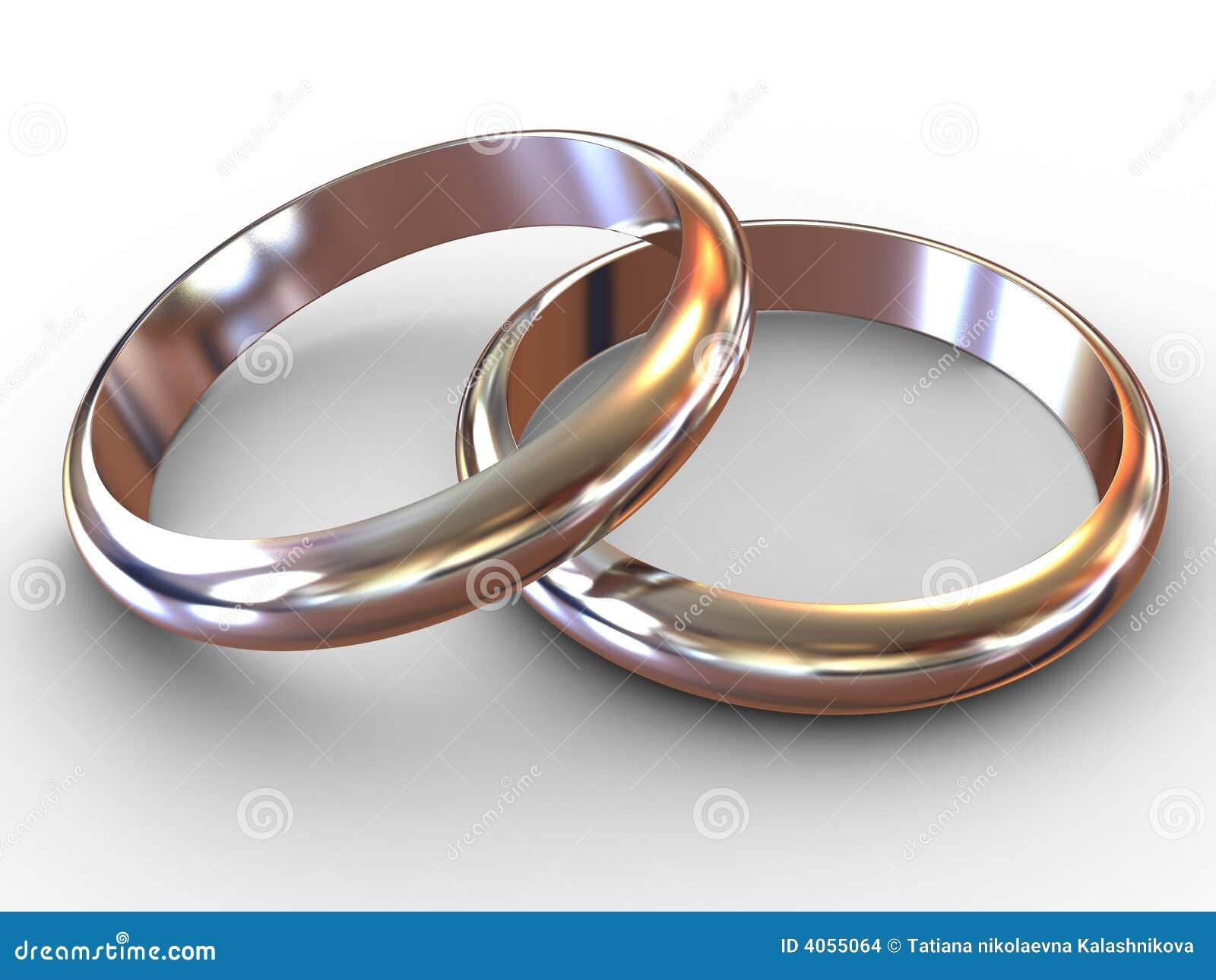Anéis de casamento.