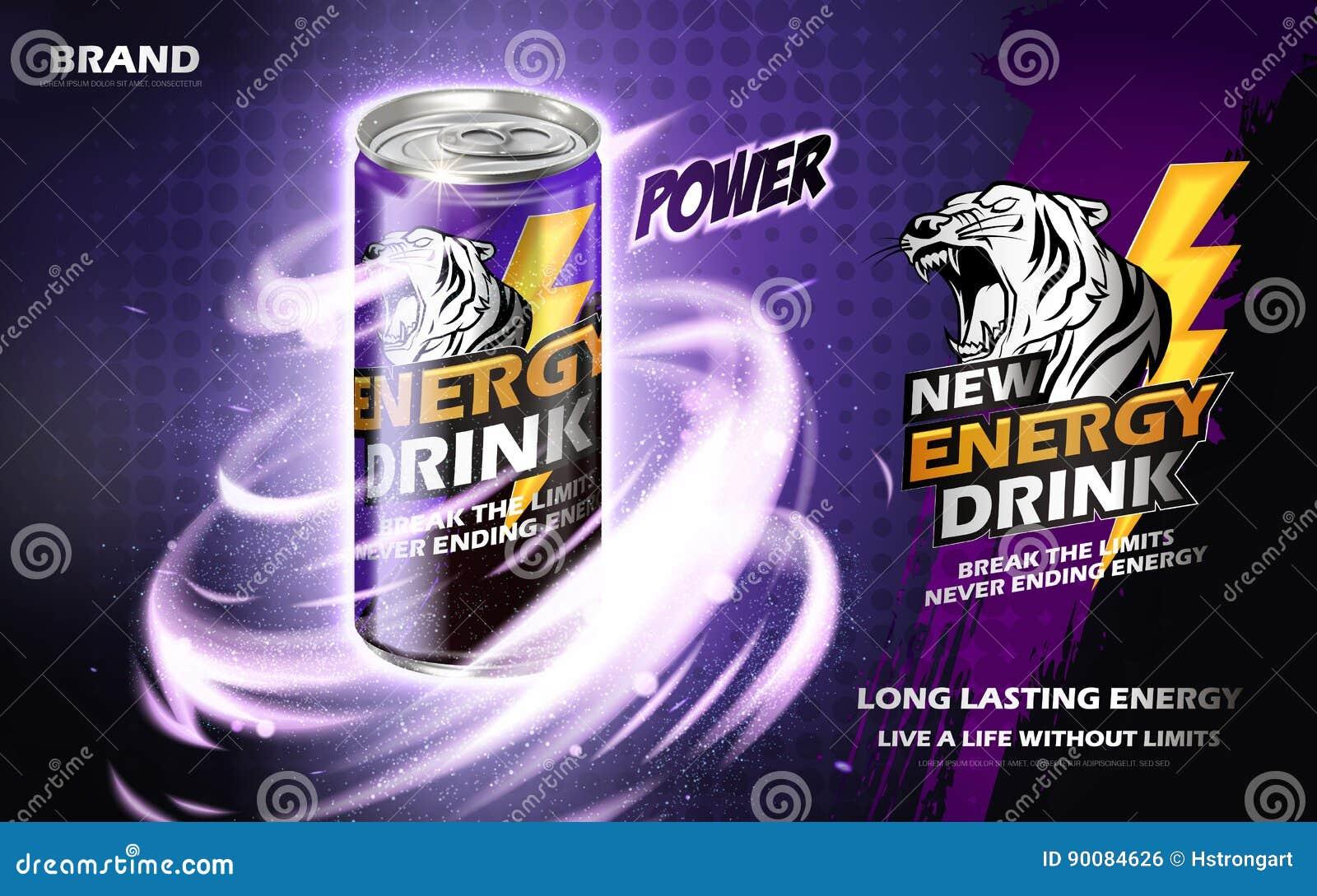 Anúncio da bebida da energia