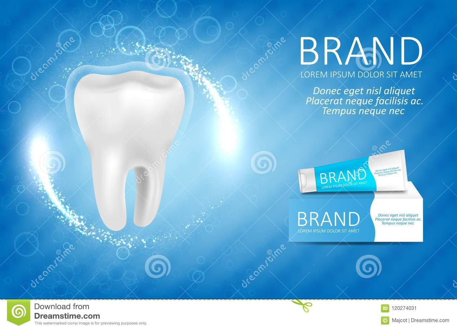 Anúncio do dentífrico do alvejante