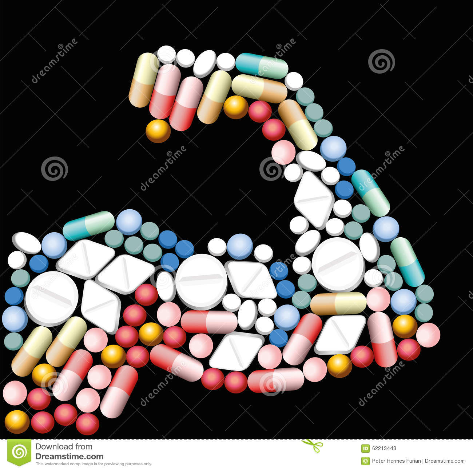 Anabolic Drugs Biceps Pills Stock Vector - Image: 62213443
