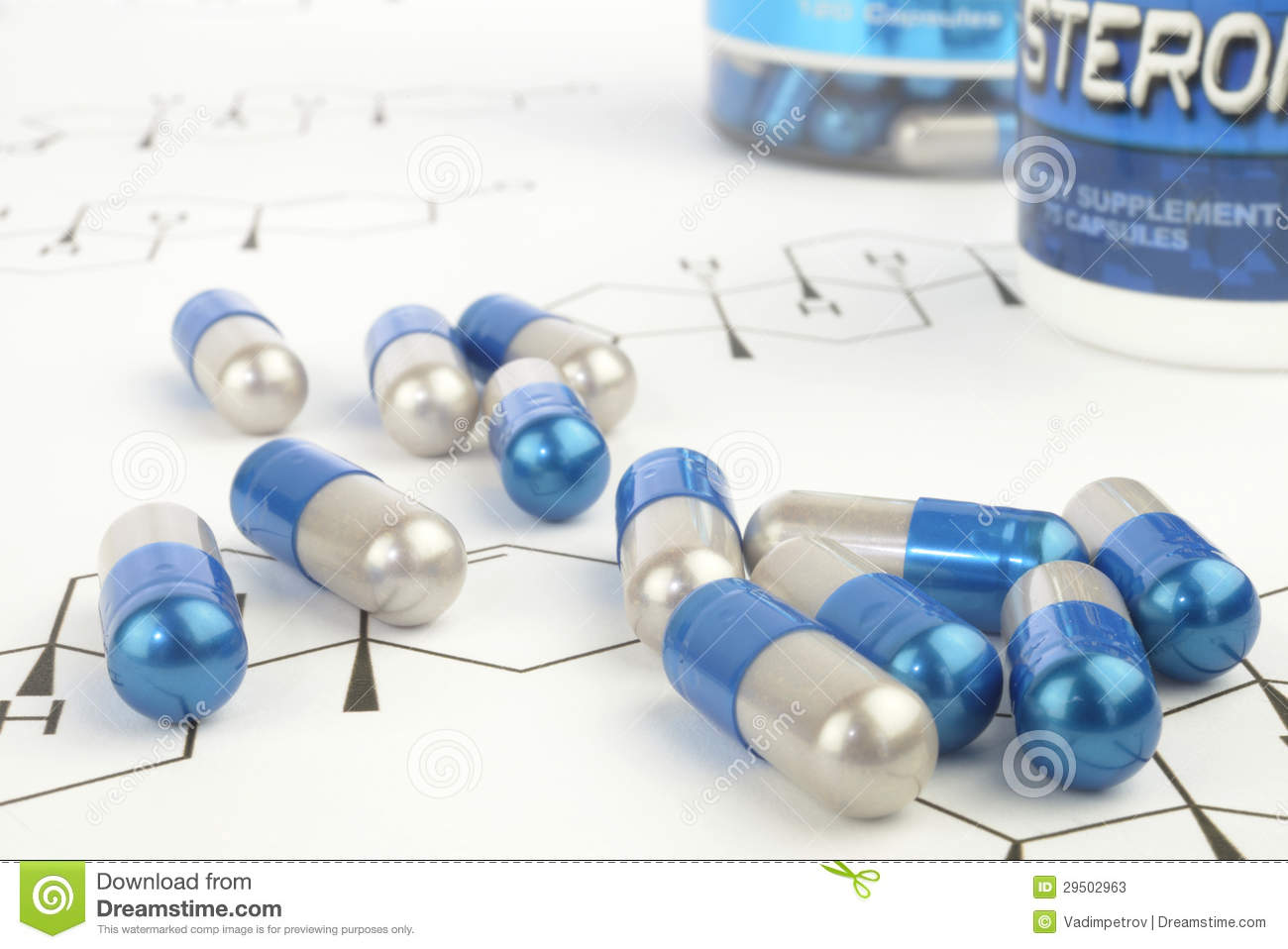 Anabolic Steroid Pills Stock Photos - Image: 29502963