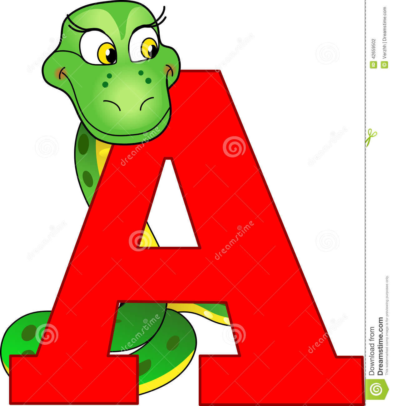 4 Letter Cartoon Characters : Anaconda stock illustration image of alphabet single