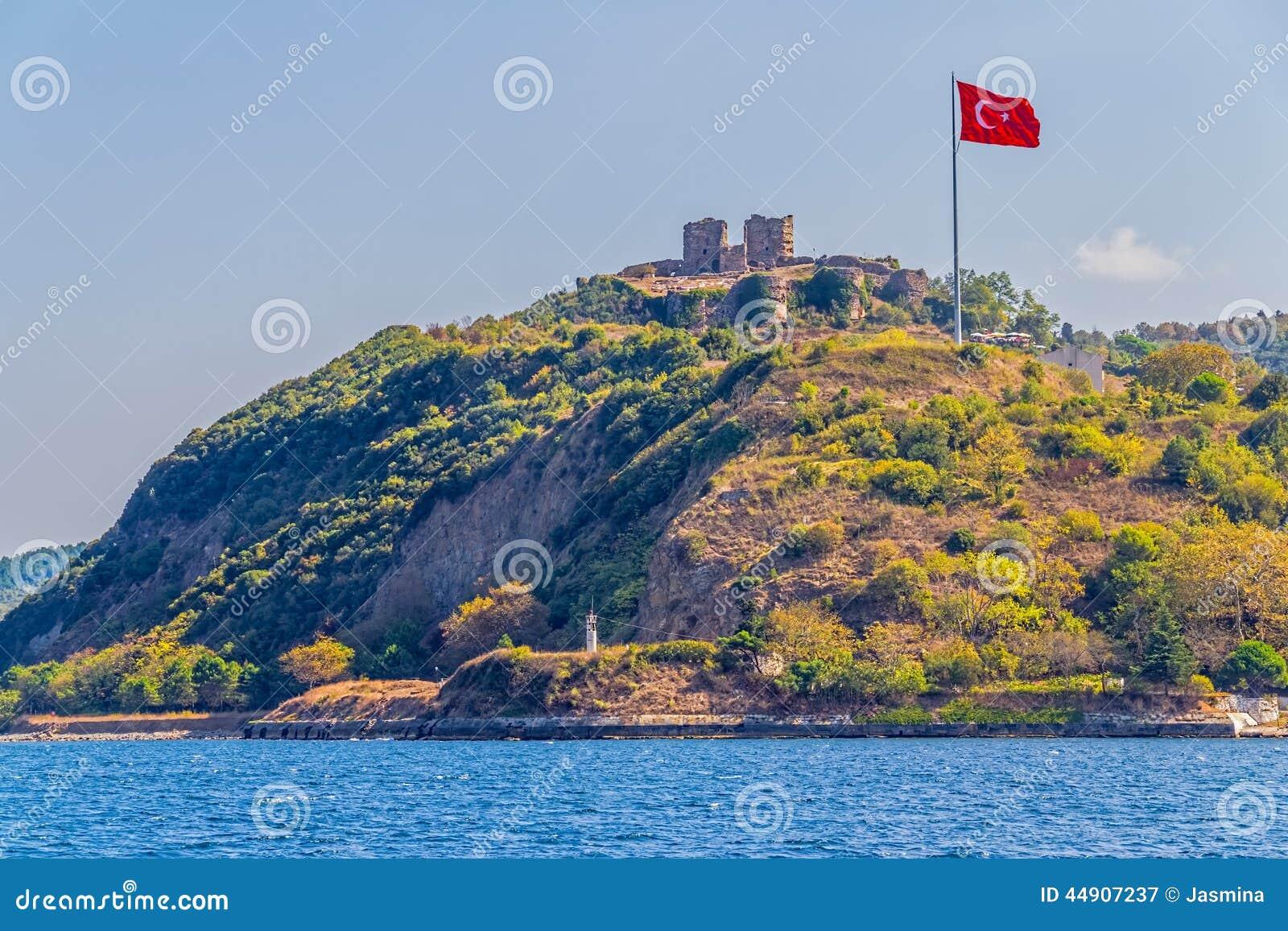 Anadolu Kavagi With Yoros Castle Stock Photo - Image: 44907237