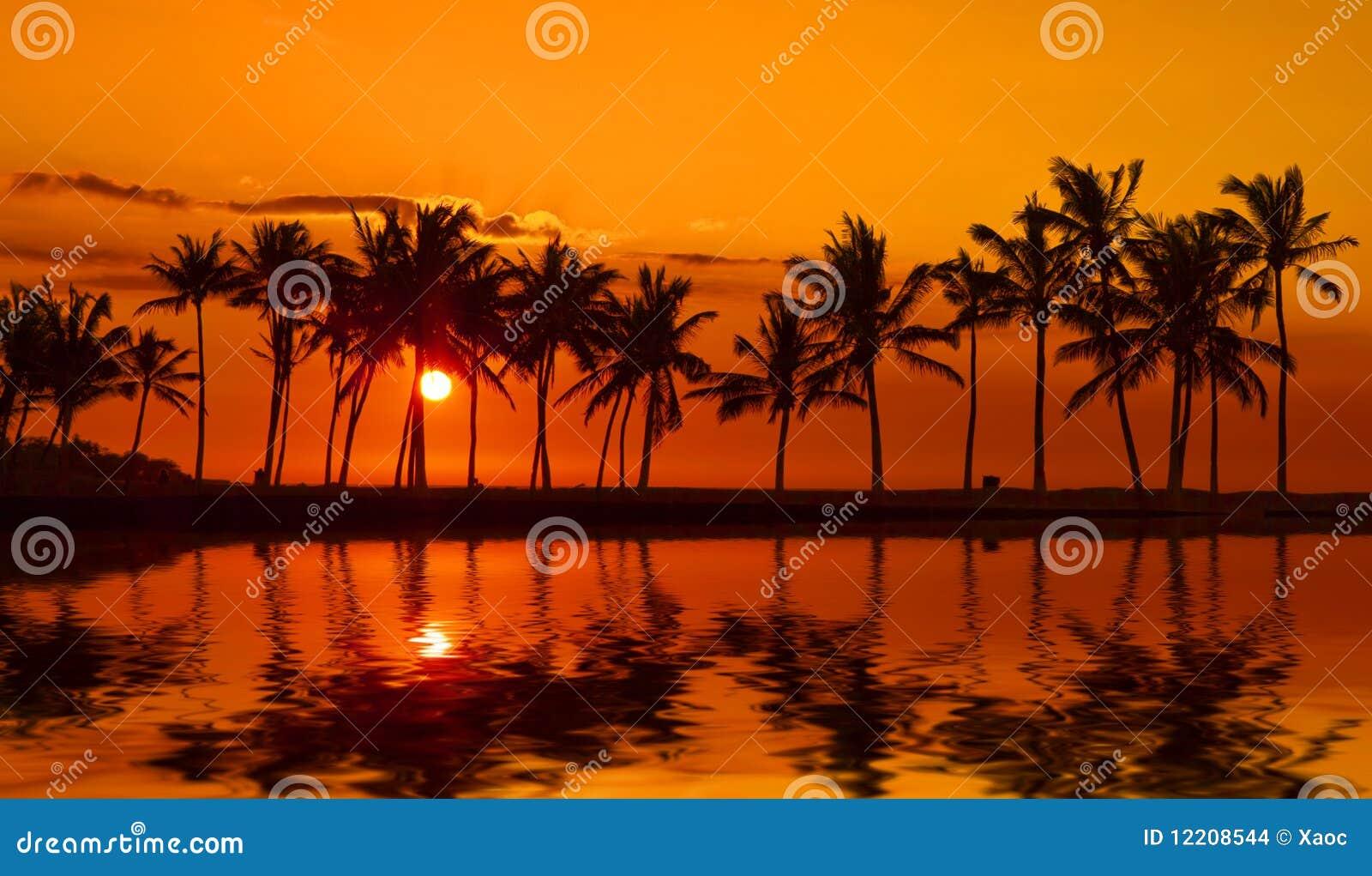Anaehoomalu Bay Sunset on Big Island Hawaii