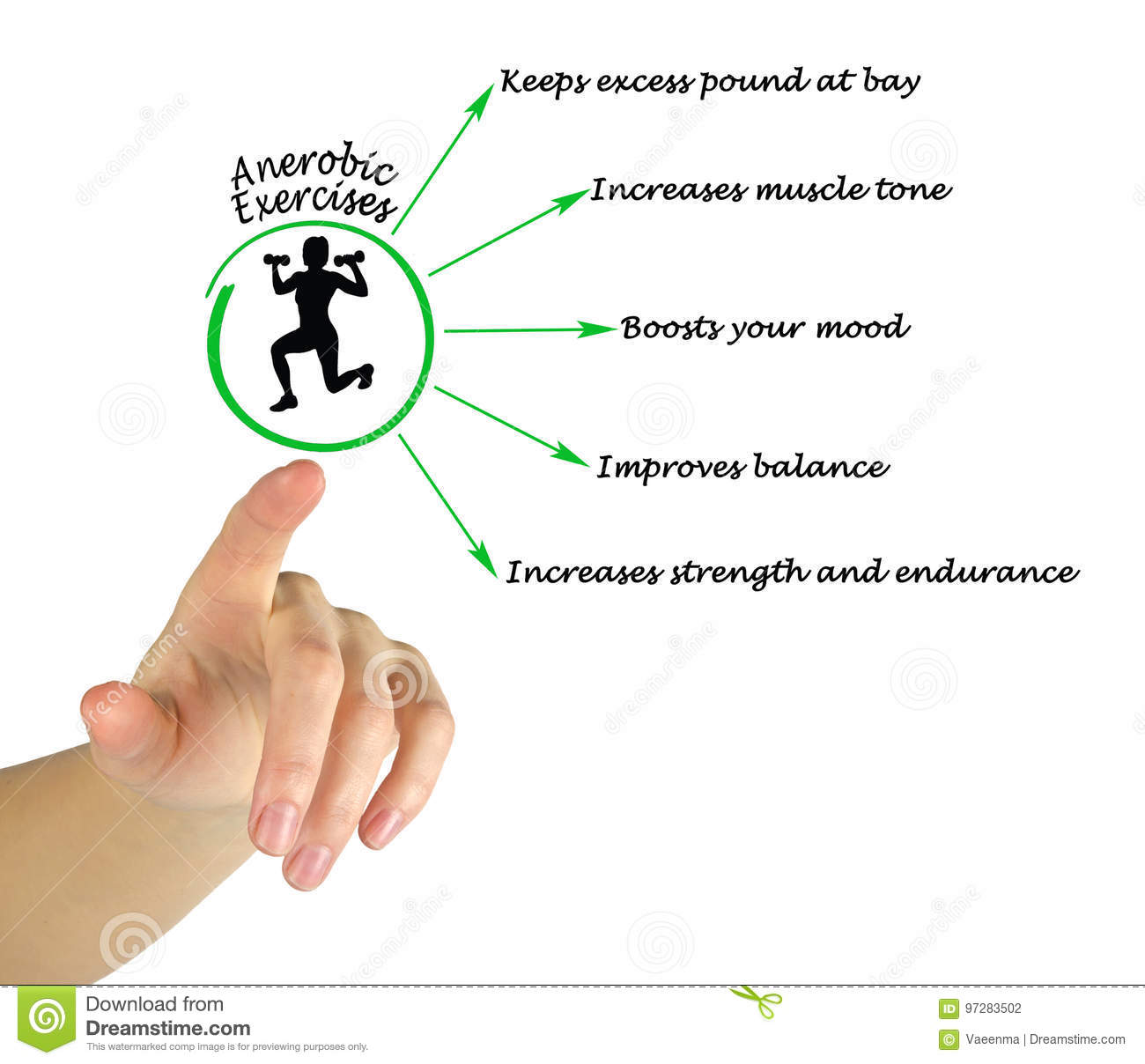 Anaerobic Exercise stock photo  Image of trainer, expert - 97283502