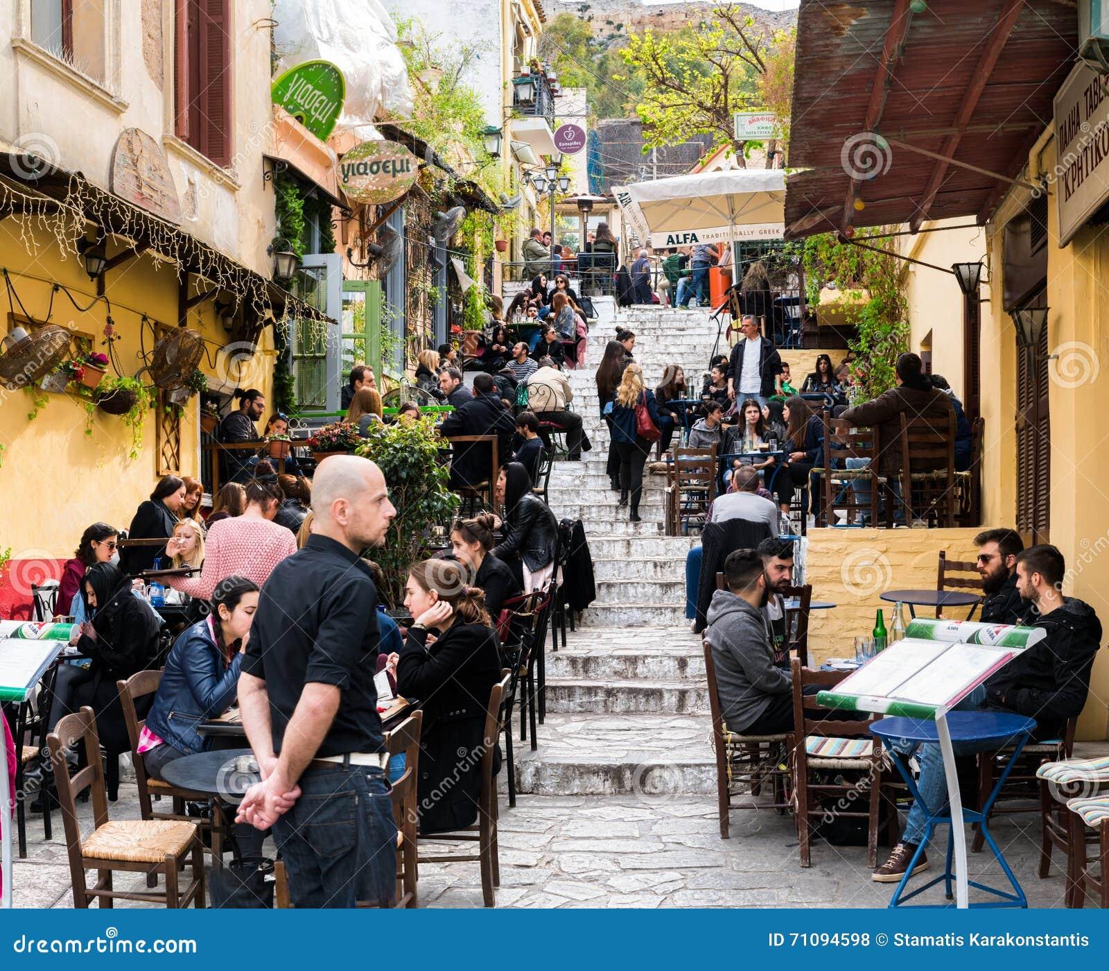 Anafiotika, Plaka, Athens, March 2016 Editorial Stock ...