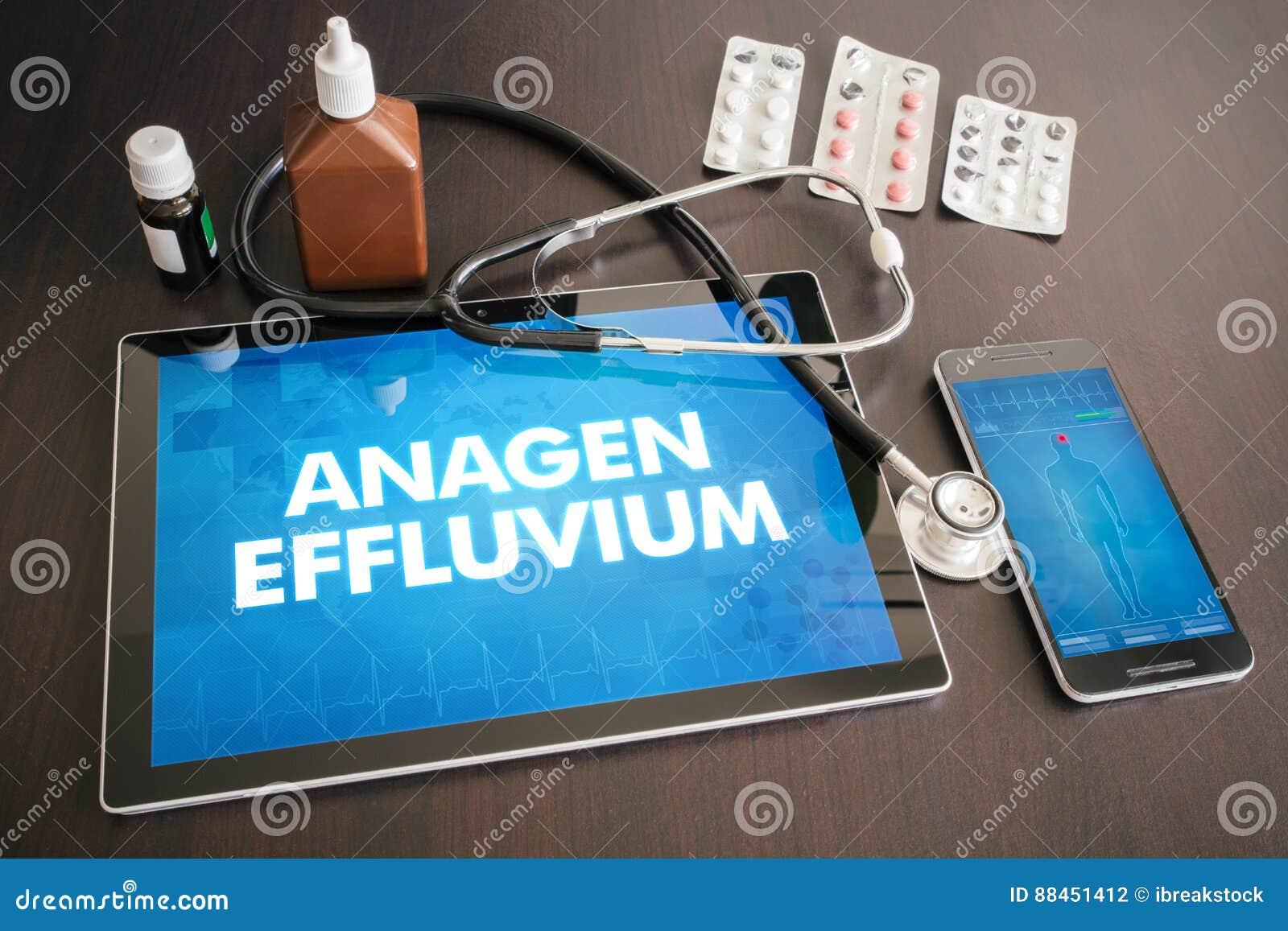 Anageneffluvium (huidziekte) diagnose medisch concept o
