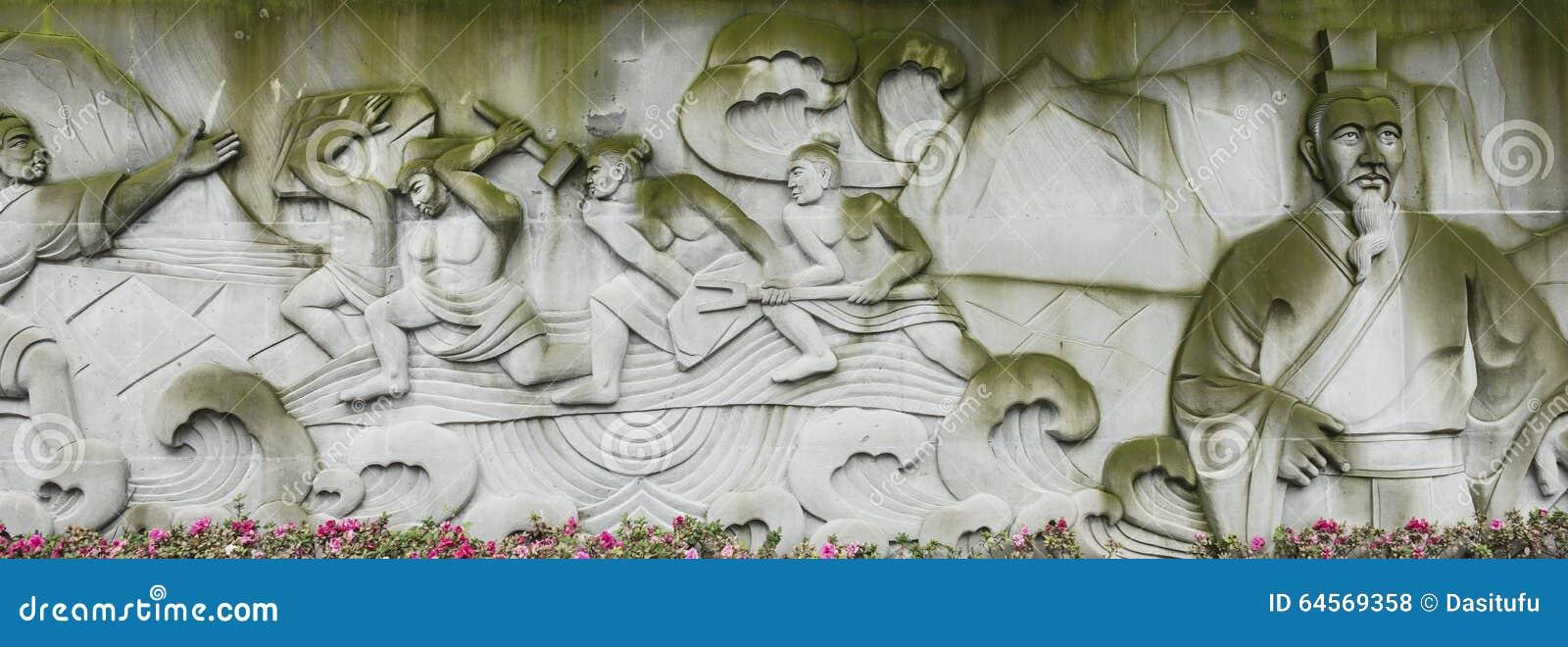 Anaglyph of libing at dujiangyan