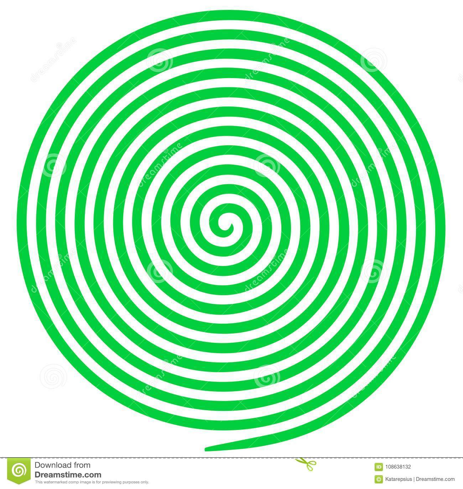 Anaglyph van de optische illusieschroef opteert kunstillustratie