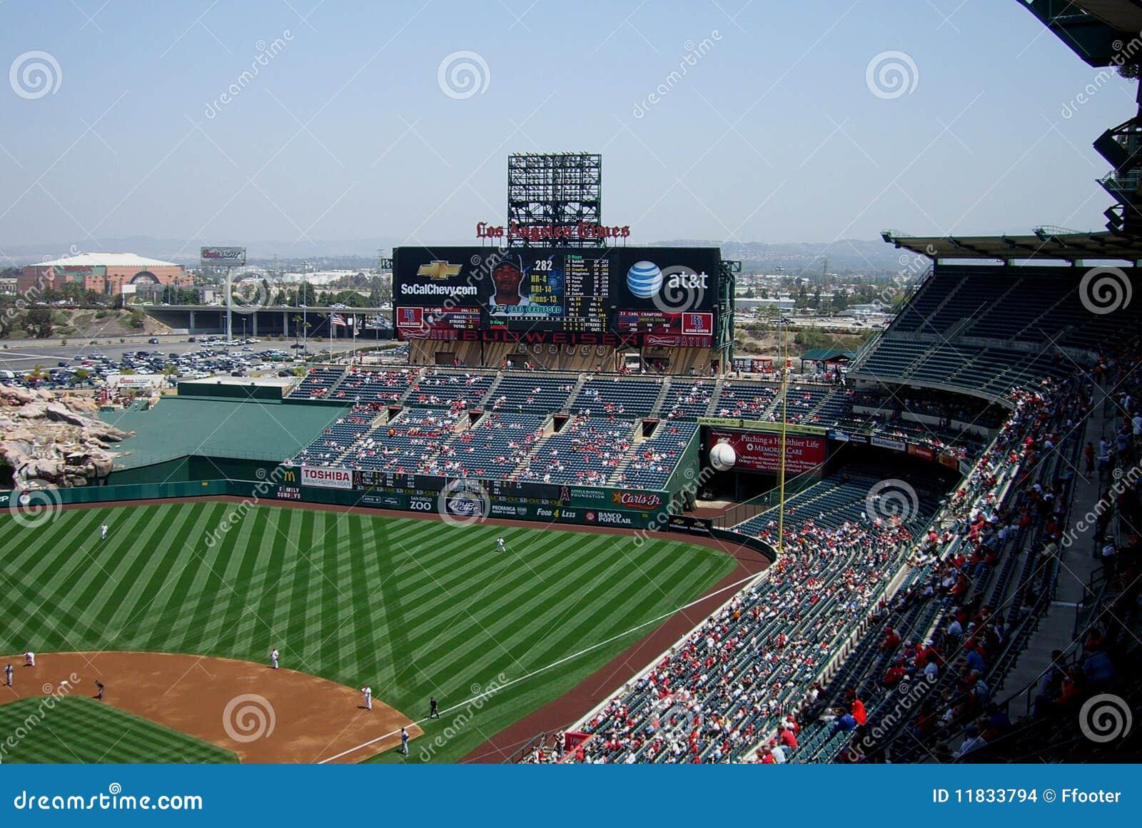 Anaheim anioła Angeles los tablica wyników stadium