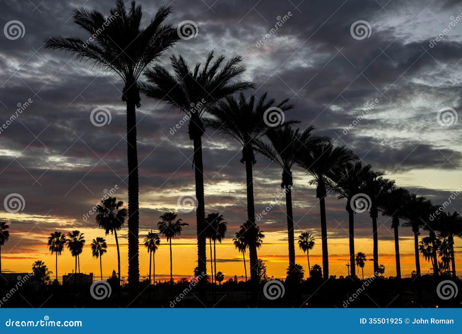 Anaheim solnedgång