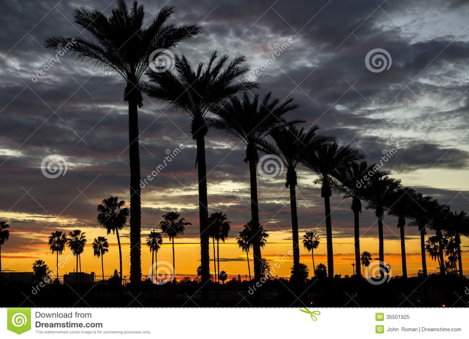 Anaheim-Sonnenuntergang