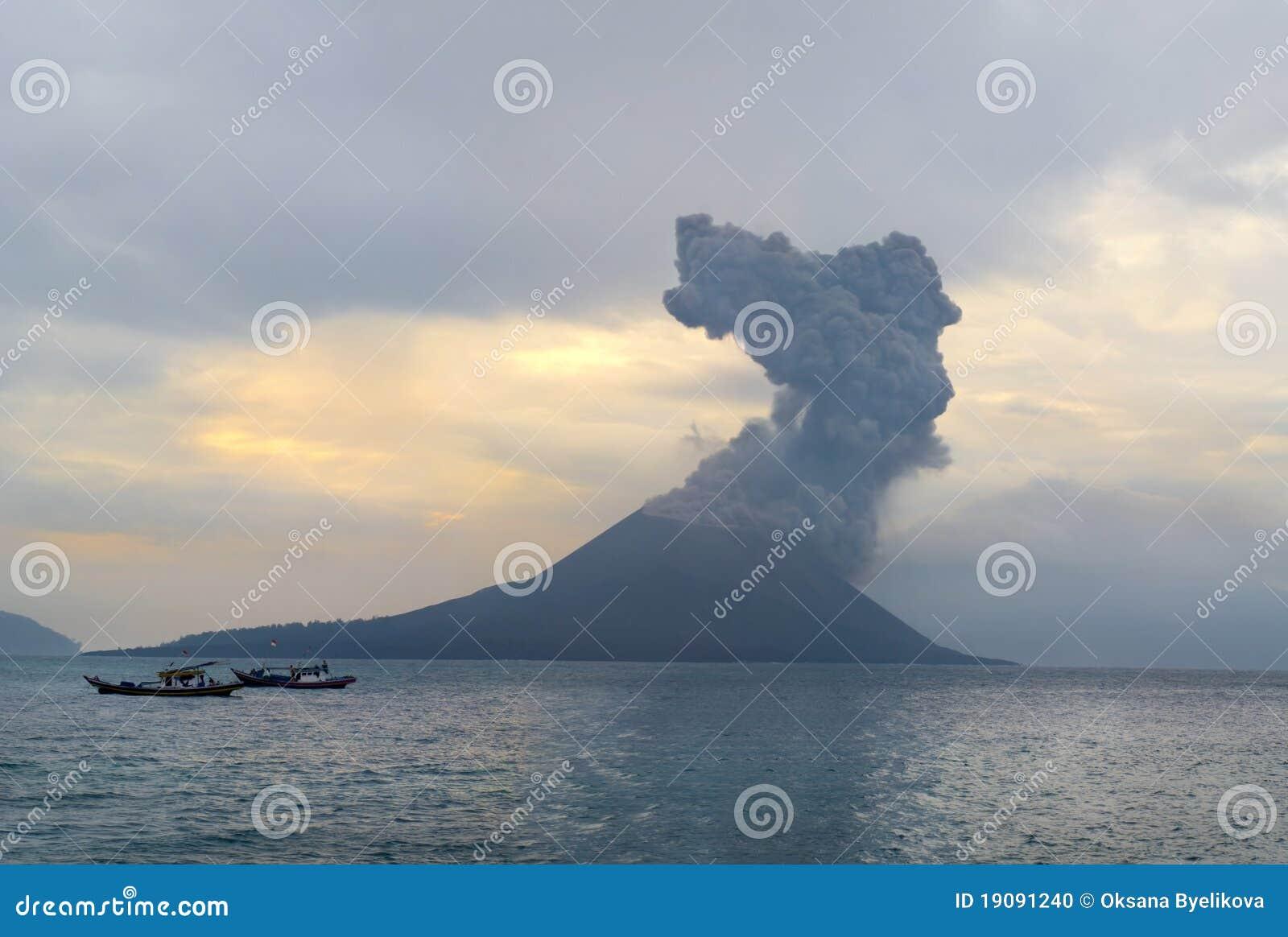 Anak爆发krakatau火山