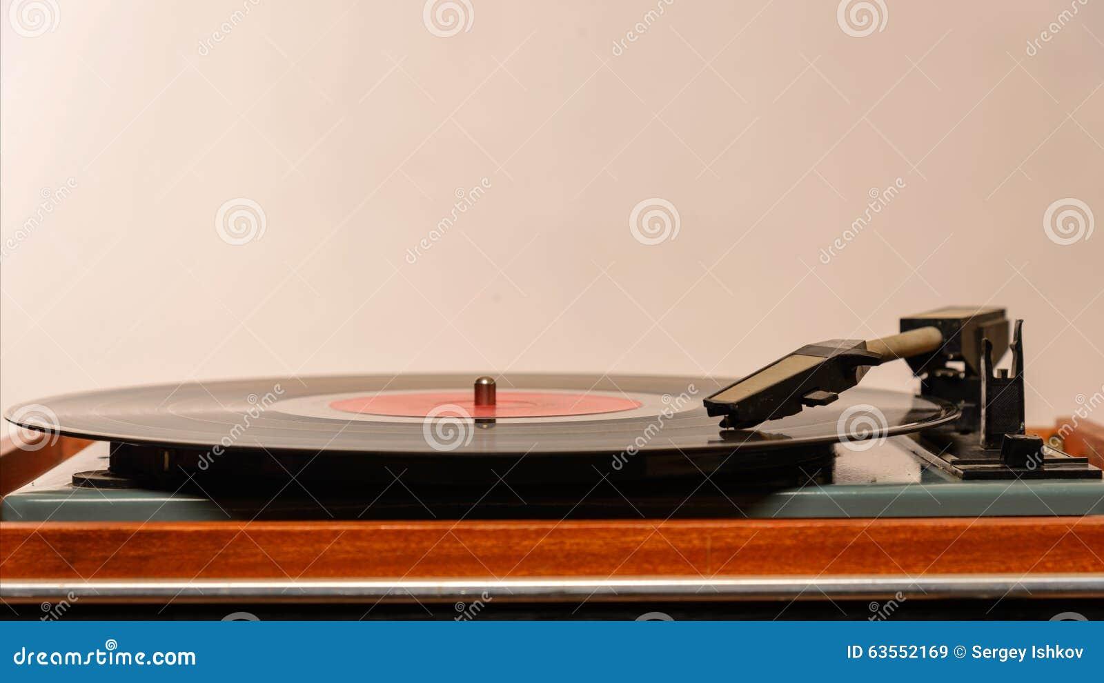 Analógico estereofônico do jogador de registro do vinil da plataforma giratória