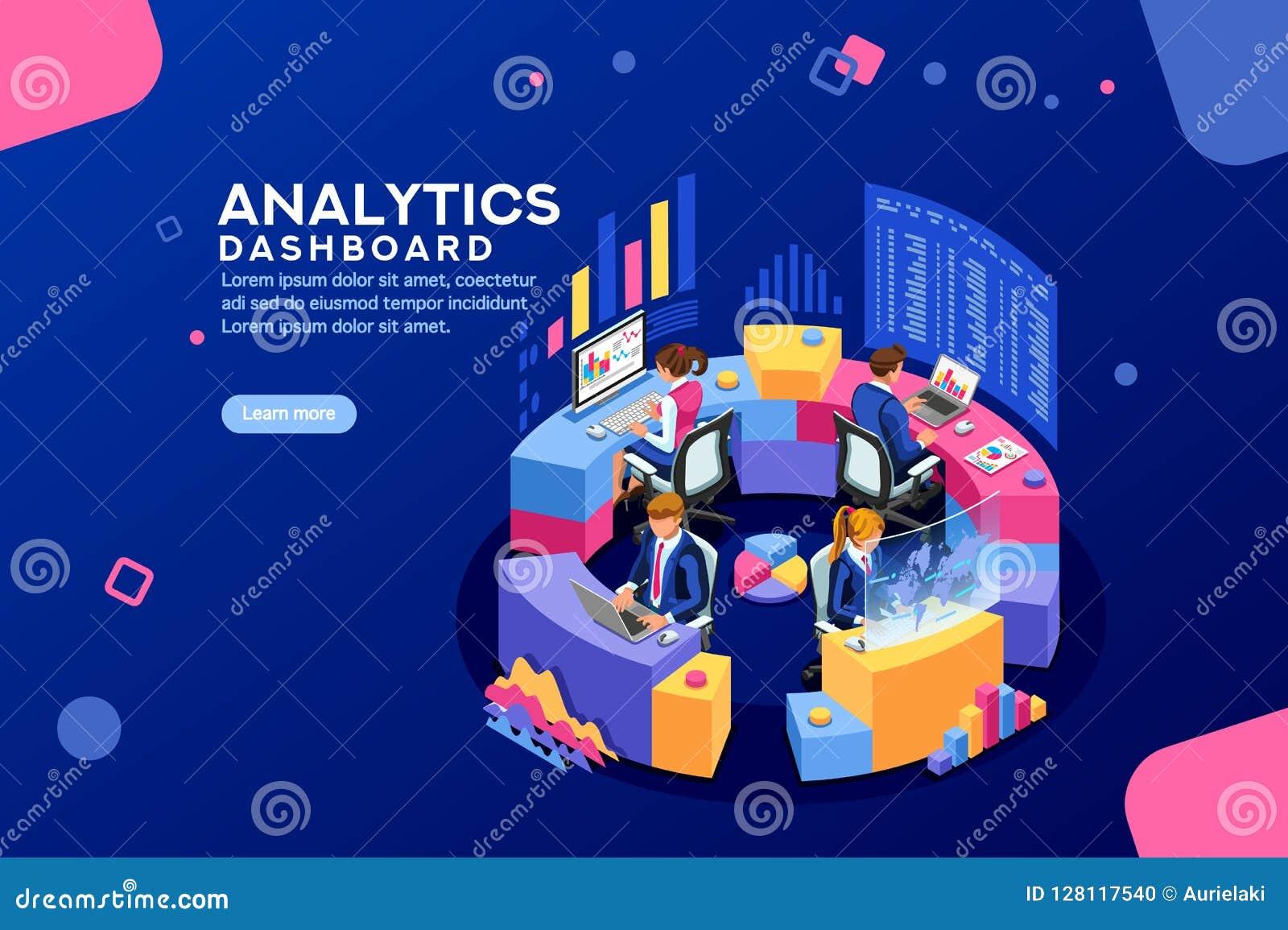 Analista Dashboard Financial Banner del tablero de instrumentos del Analytics