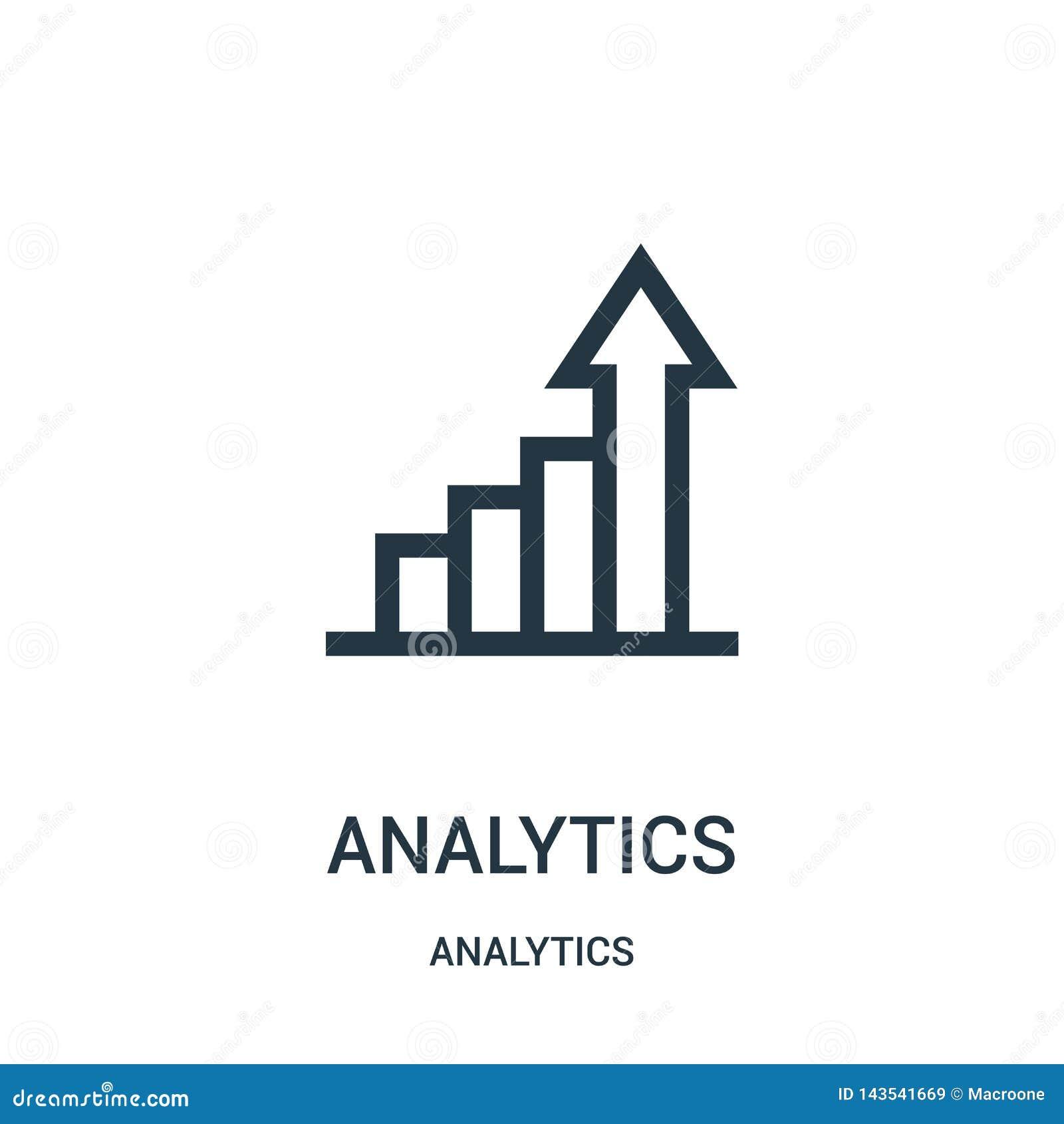 Analityki ikony wektor od analityka inkasowych Cienka kreskowa analityka konturu ikony wektoru ilustracja
