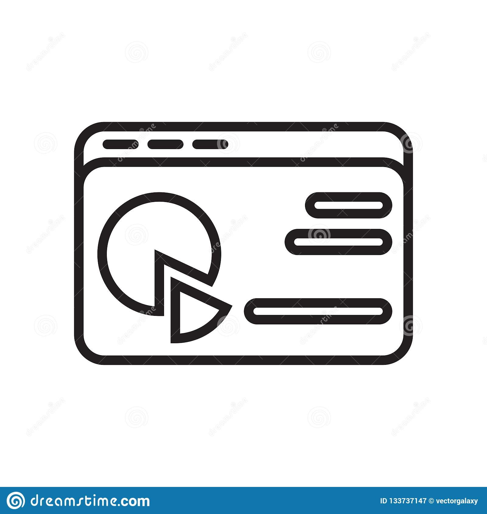 Analityki ikony wektoru znak i symbol odizolowywający na białym backgrou