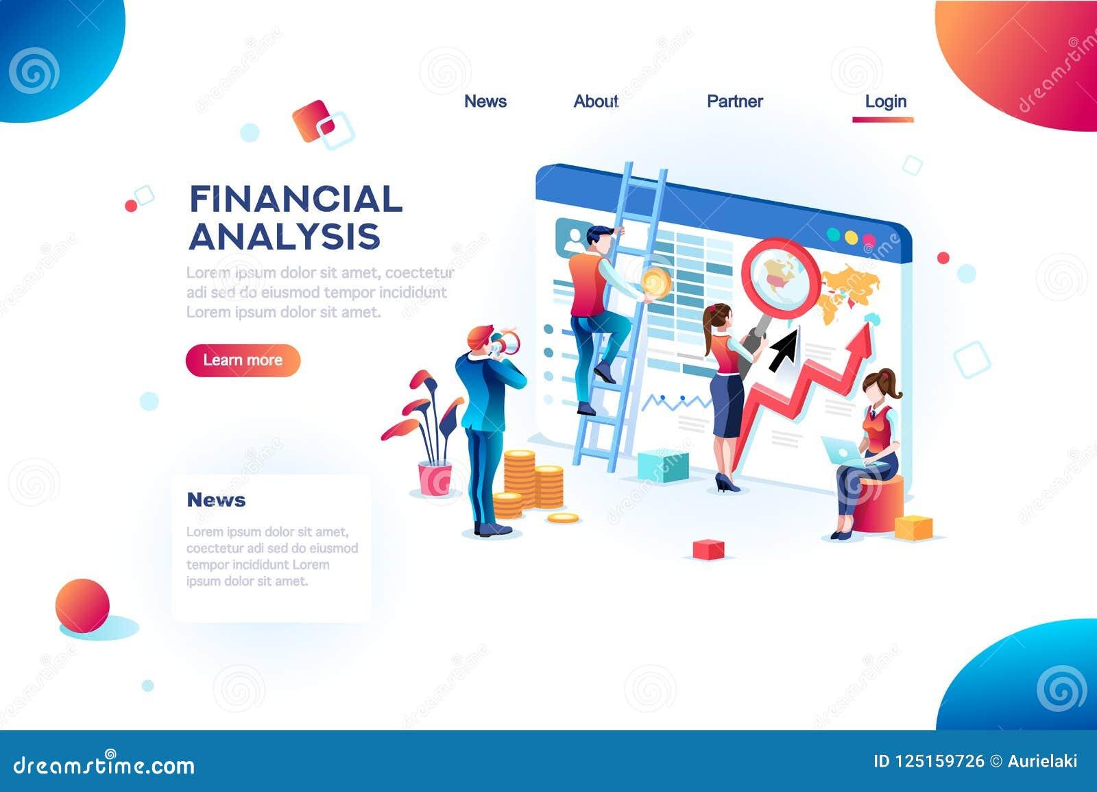 Analityki pojęcia finanse analityka dla strony internetowej Infographic