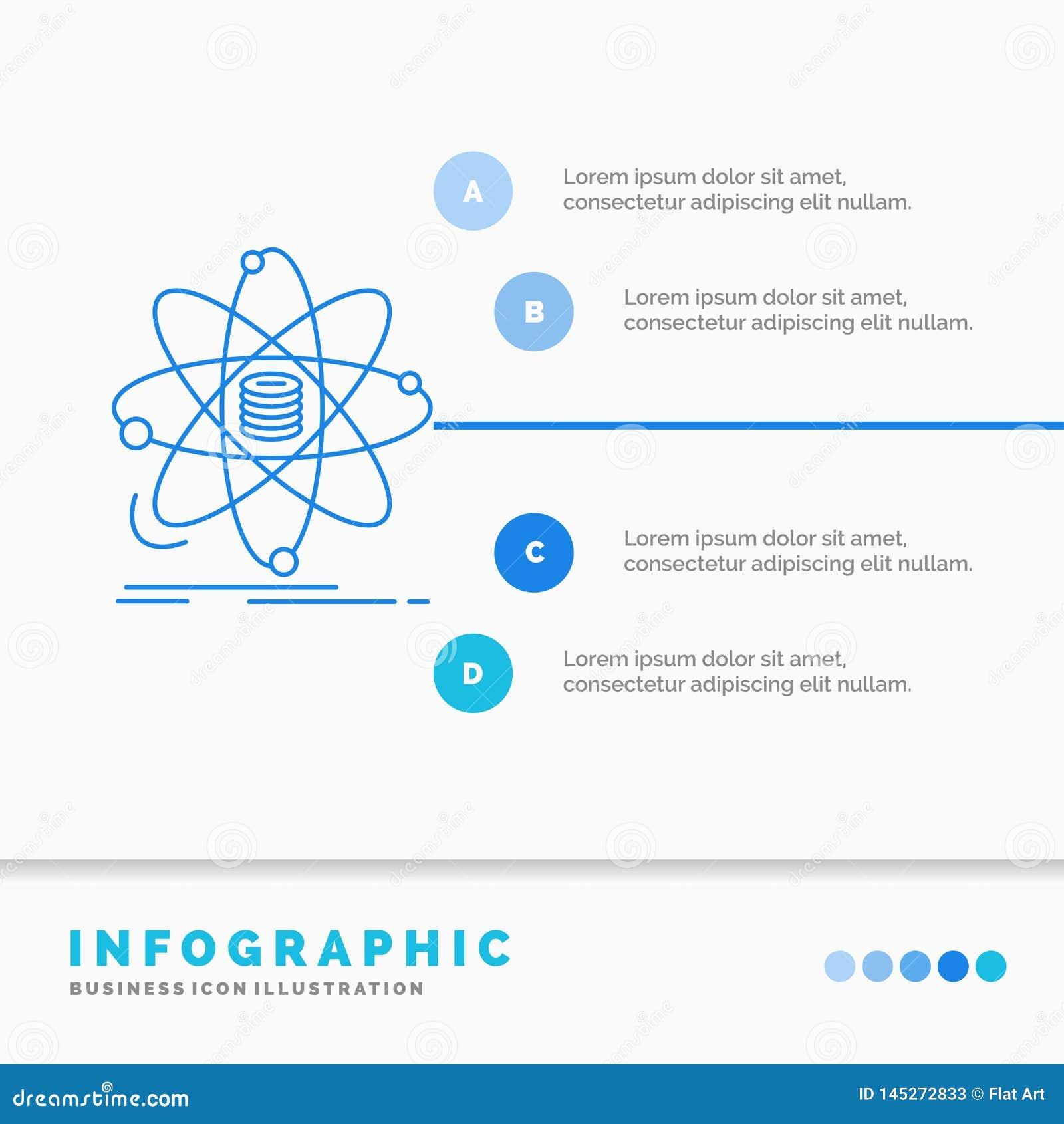Analiza, dane, informacja, badanie, nauki Infographics szablon dla strony internetowej i prezentacja, Kreskowa B??kitna ikona inf