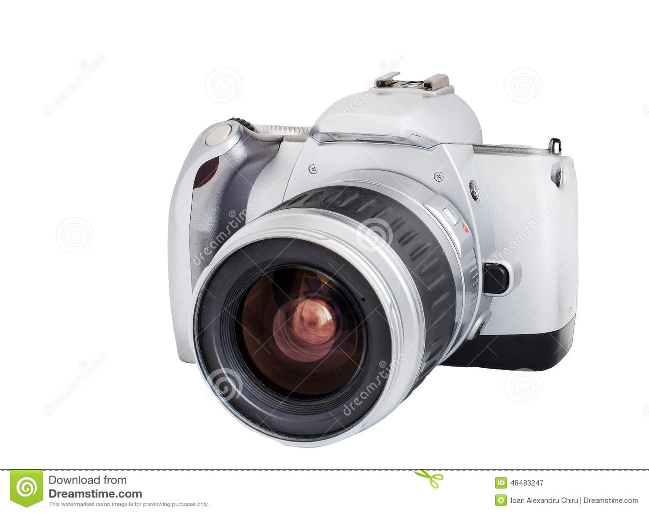 Analog Camera On Film 35mm Format Isolated On A White ...