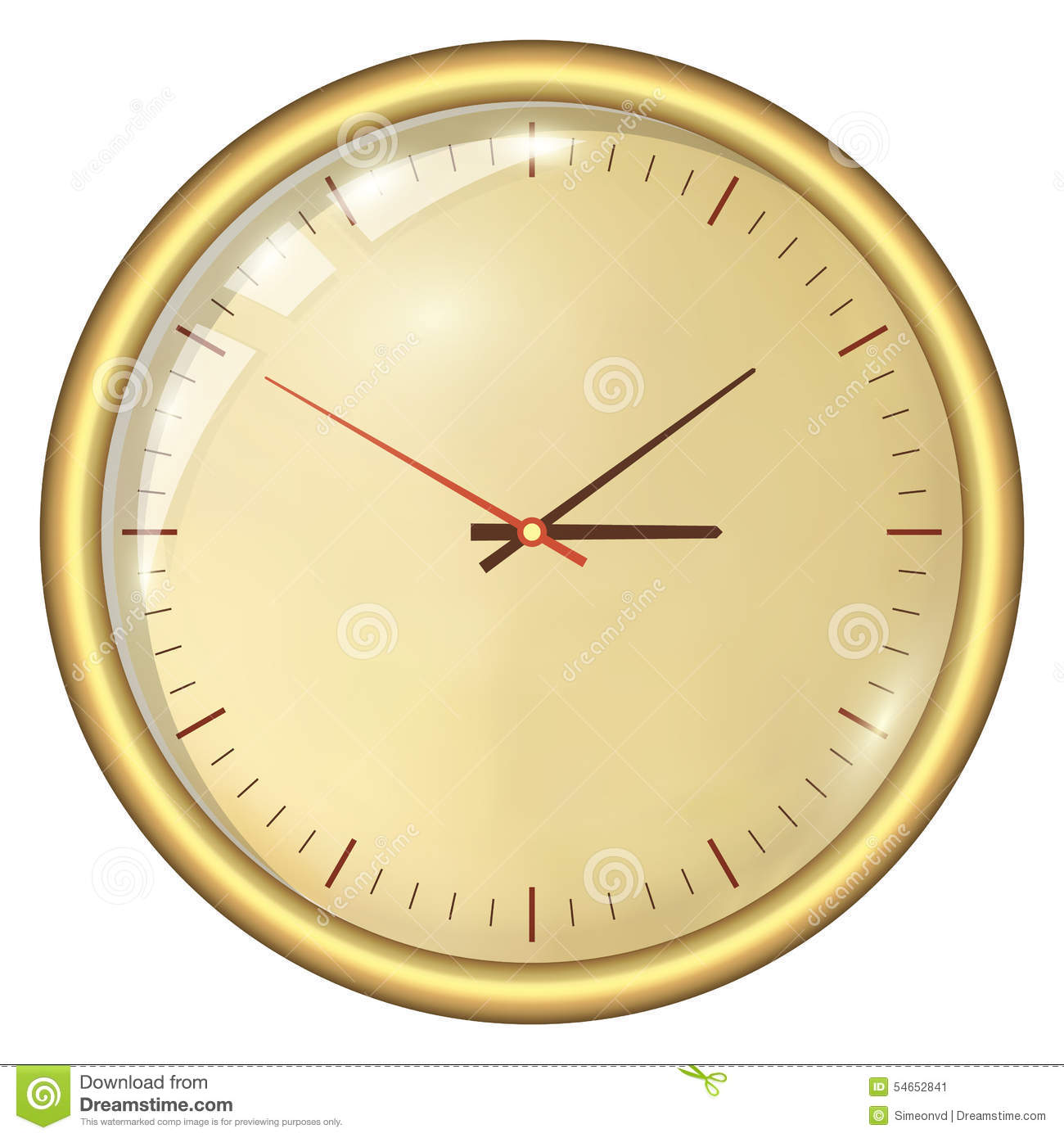 Analog Clock Stock Image Image Of Lunch Second Seconds 54652841