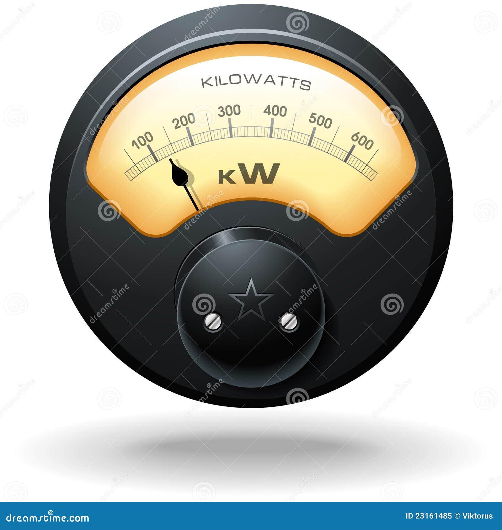 Utility Meter Analog : Analog electrical meter royalty free stock photo image