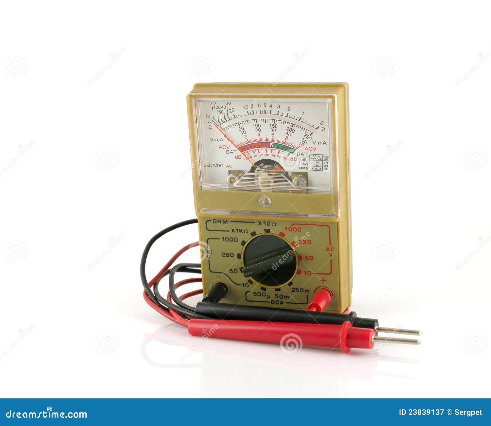 Analog Meter Background : Analog multimeter royalty free stock photography image