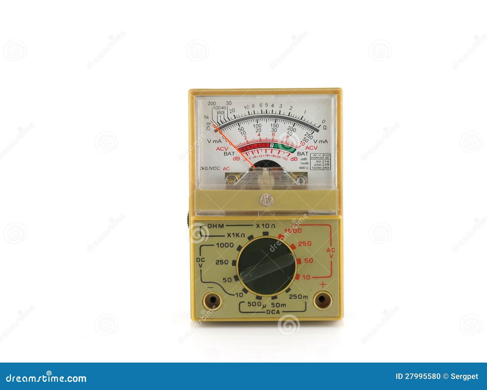 Analog Meter Background : Analog multimeter stock photo image