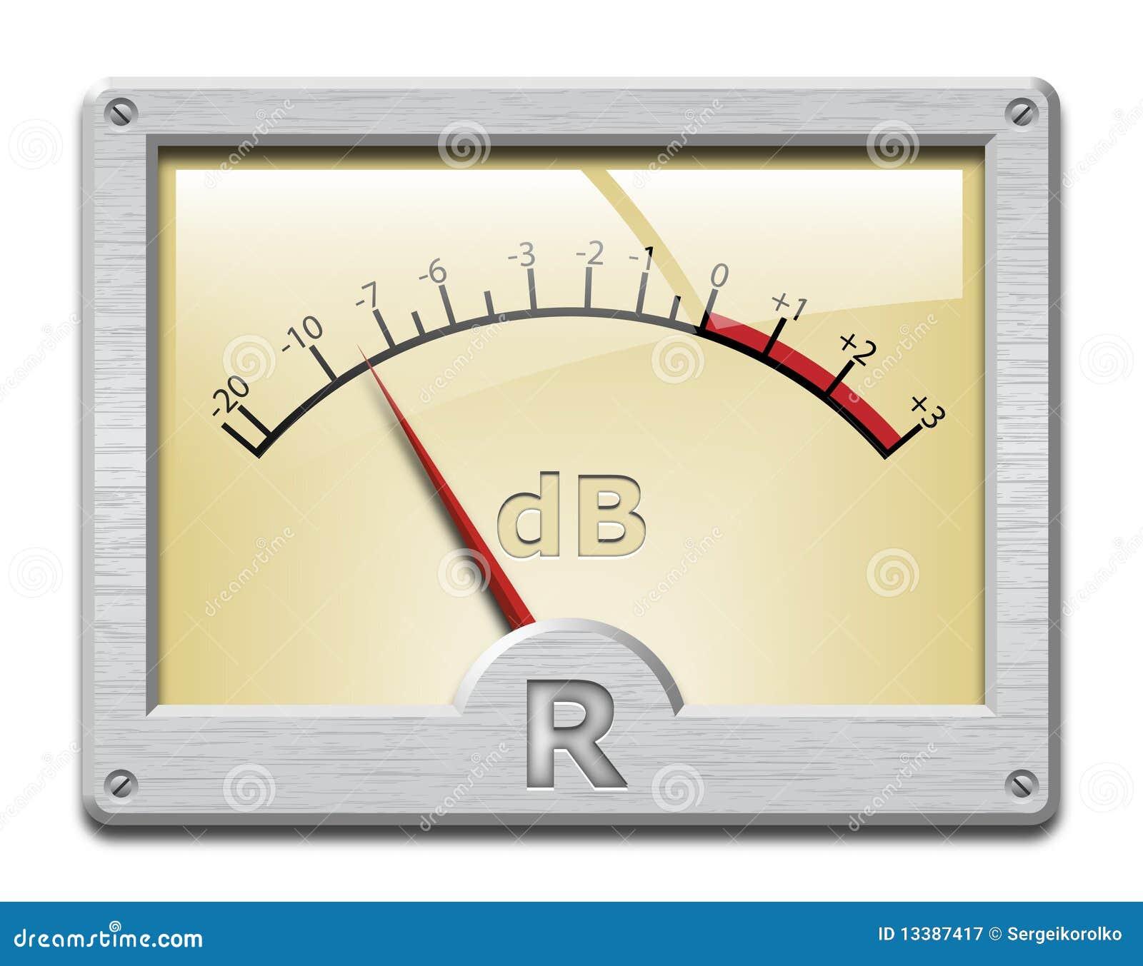 Analog Meter Background : Analog signal meter on white background royalty free stock