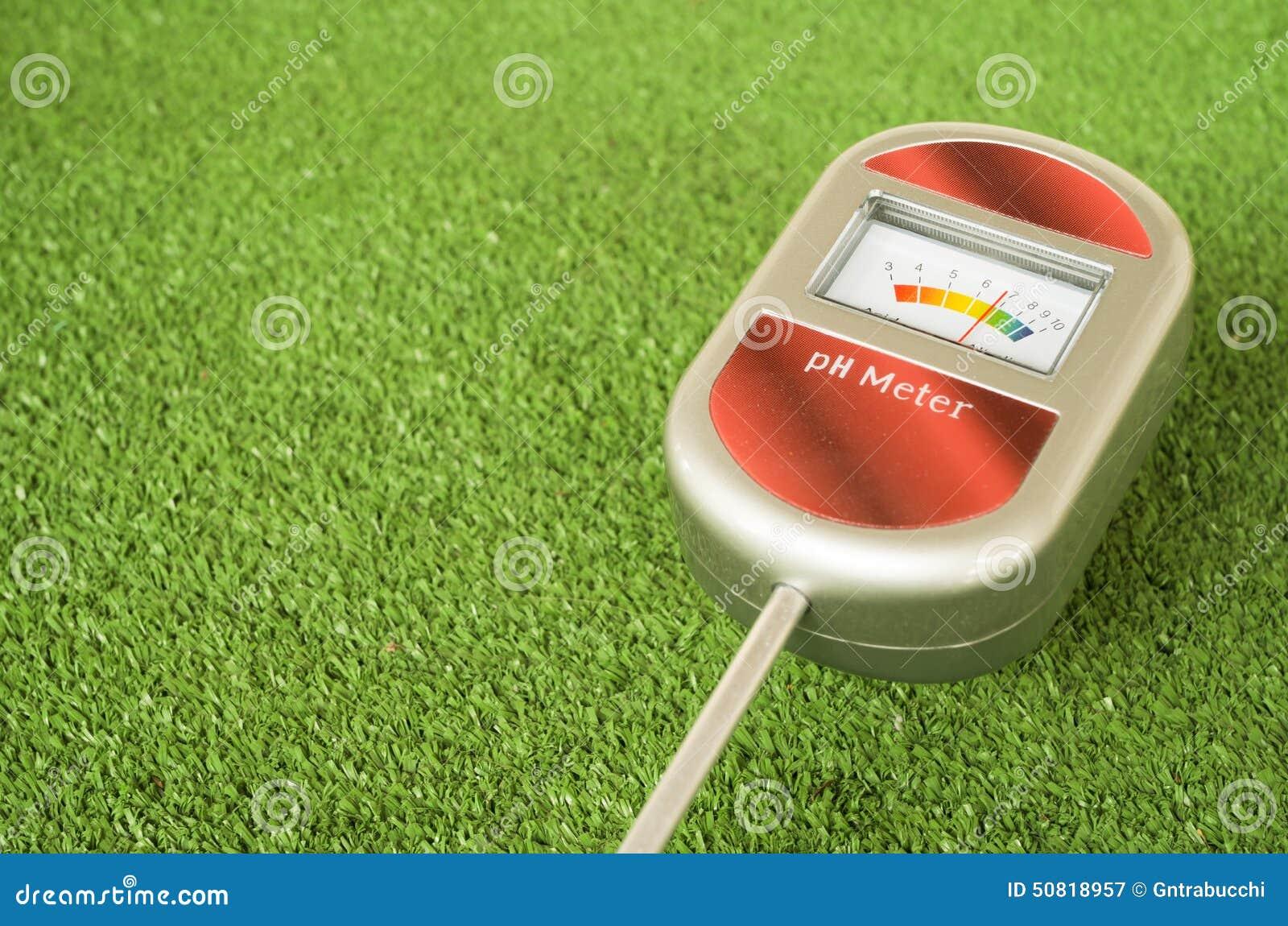 Analog Meter Background : Analog soil ph meter stock image of gardening