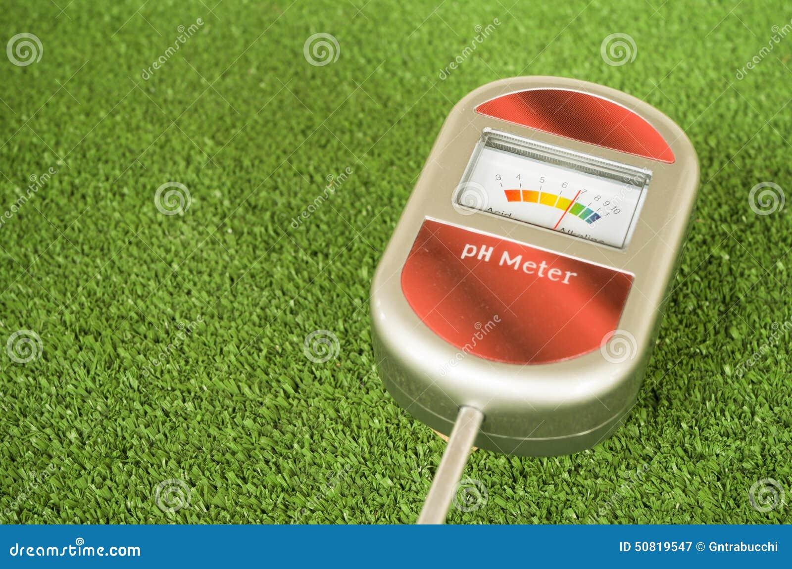 Analog Meter Background : Analog soil ph meter stock photo image