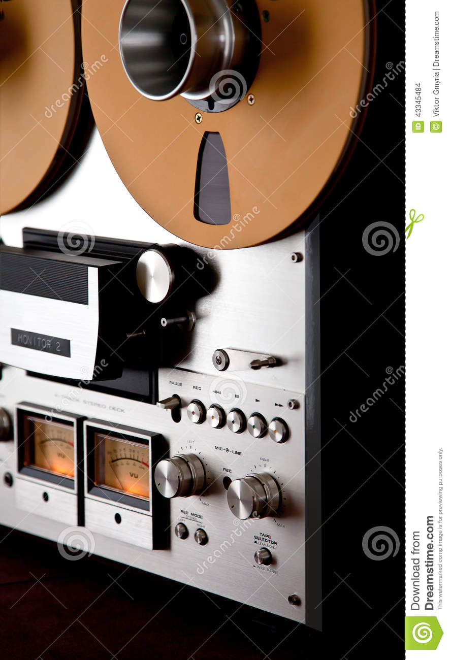 b3982f5acfaa Analog Stereo Open Reel Tape Deck Recorder Vintage Stock Photo ...