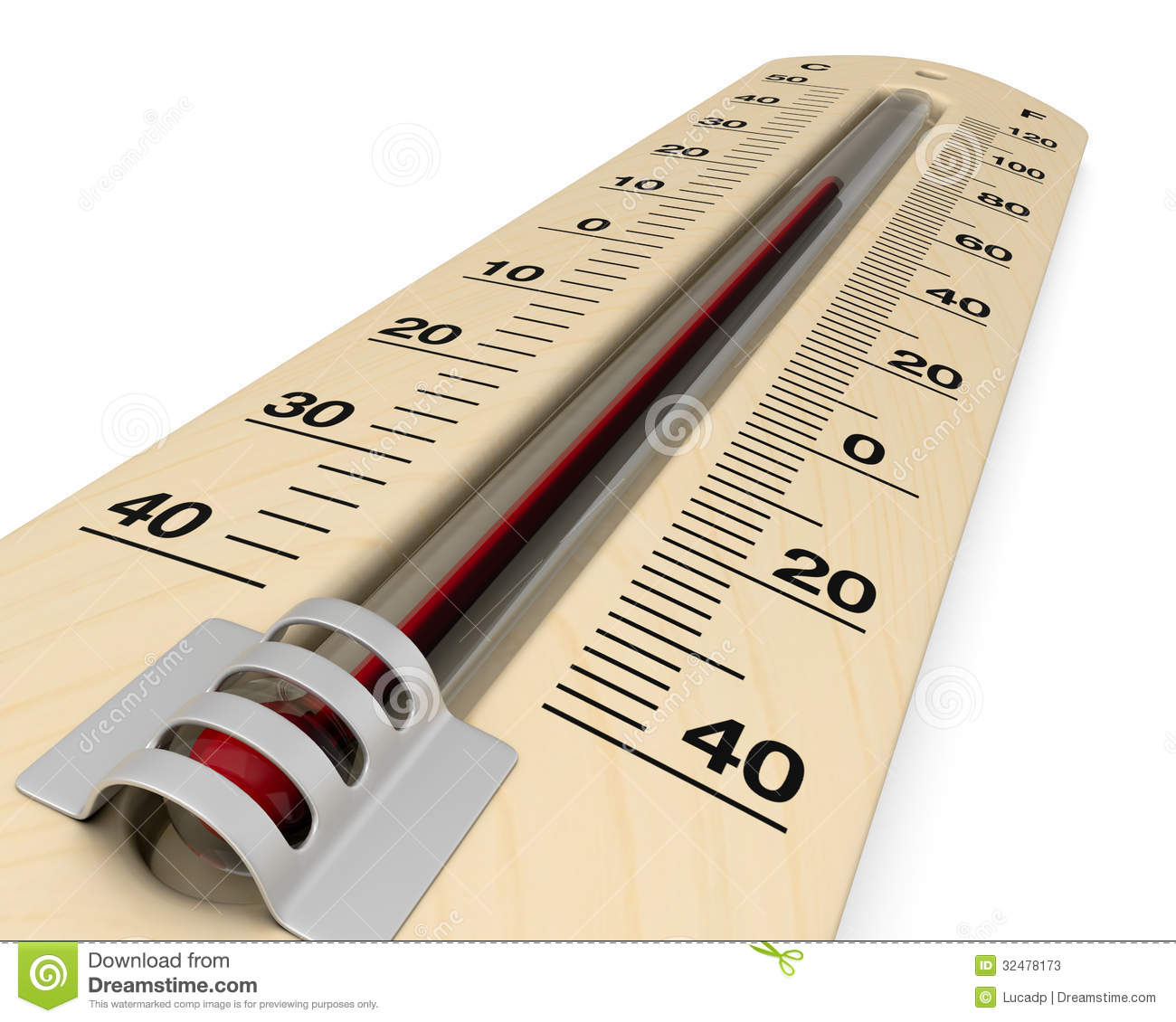 Analog thermometer stock illustration. Image of object ...