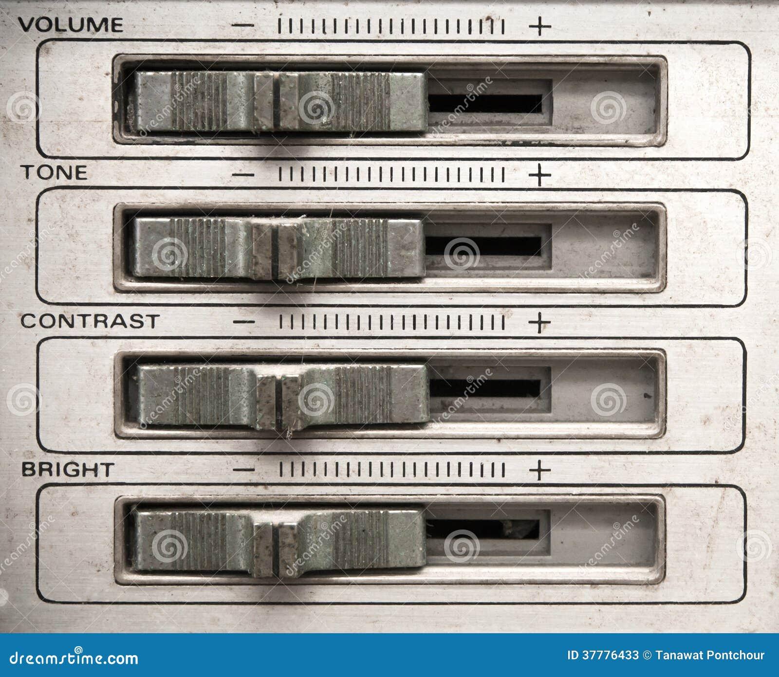 Volume Sound Control Panel : Analog tv control panel stock photos image
