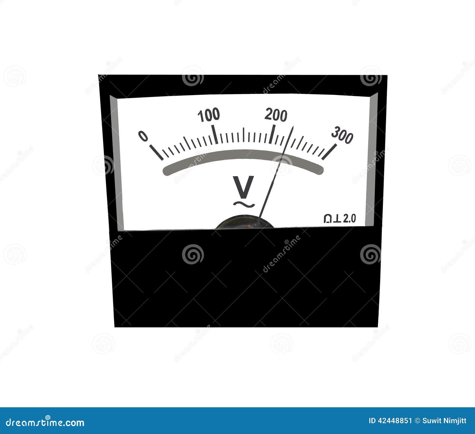 Analog Voltmeter stock image. Image of gauge, analog - 42448851 for Analog Ammeter And Voltmeter  579cpg