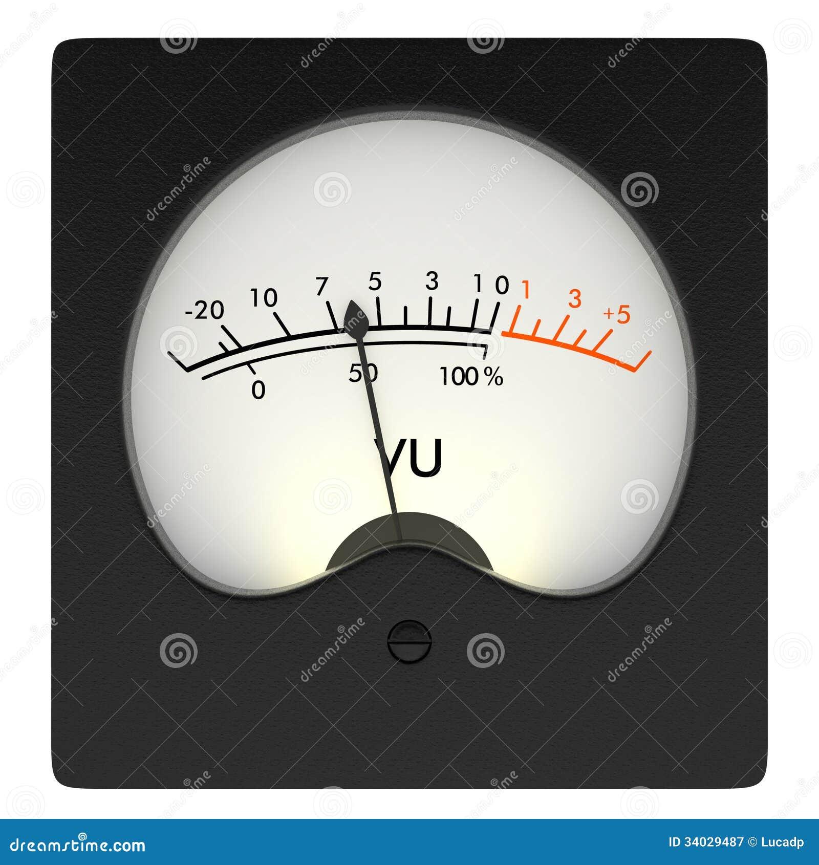 Analog Meter Background : Analog vu meter royalty free stock photography image