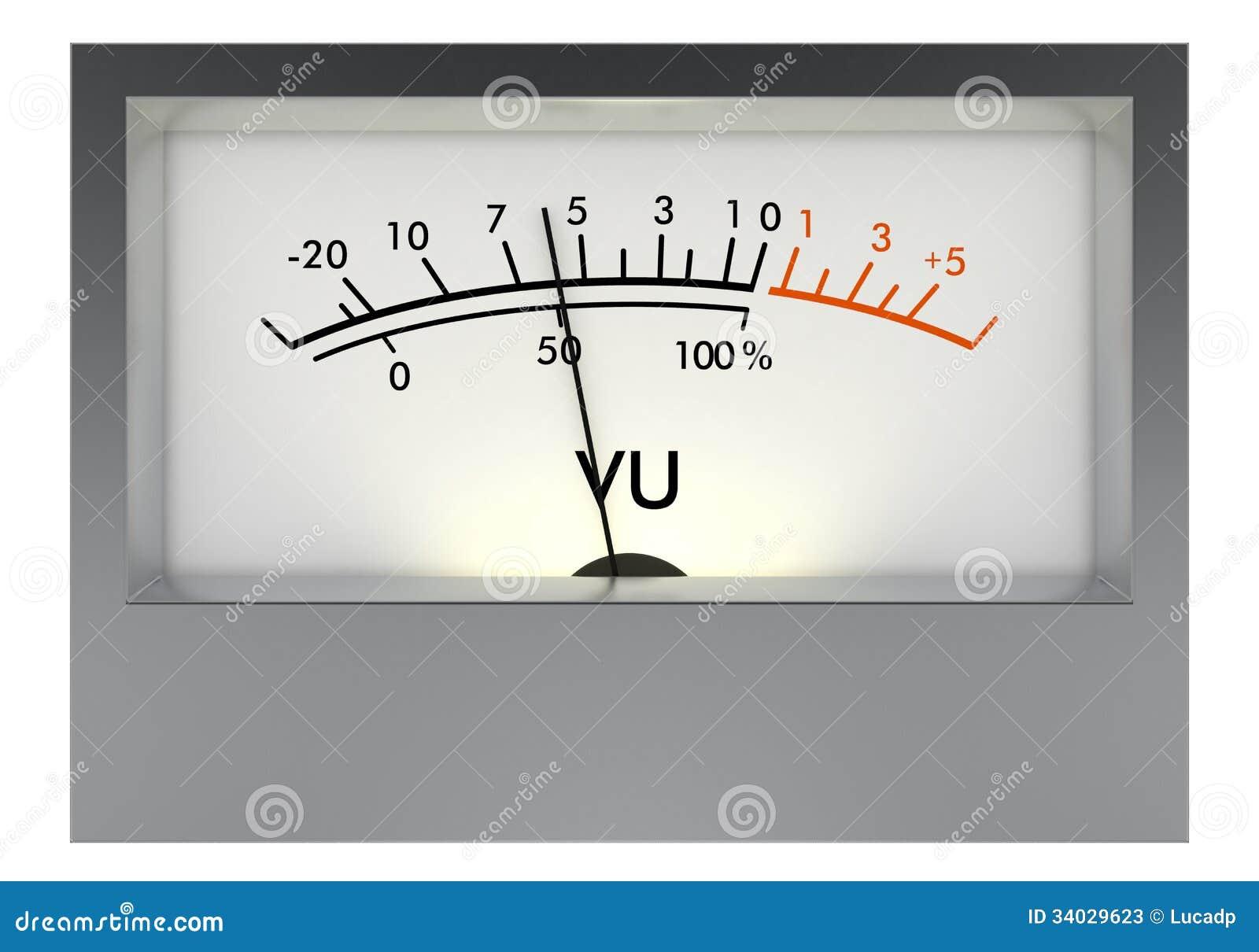 Analog Vu Meter : Analog vu meter stock photos image