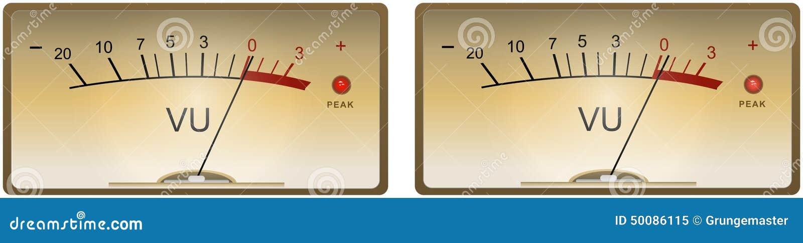 Analog Vu Meter : Analog vu meters stock vector image