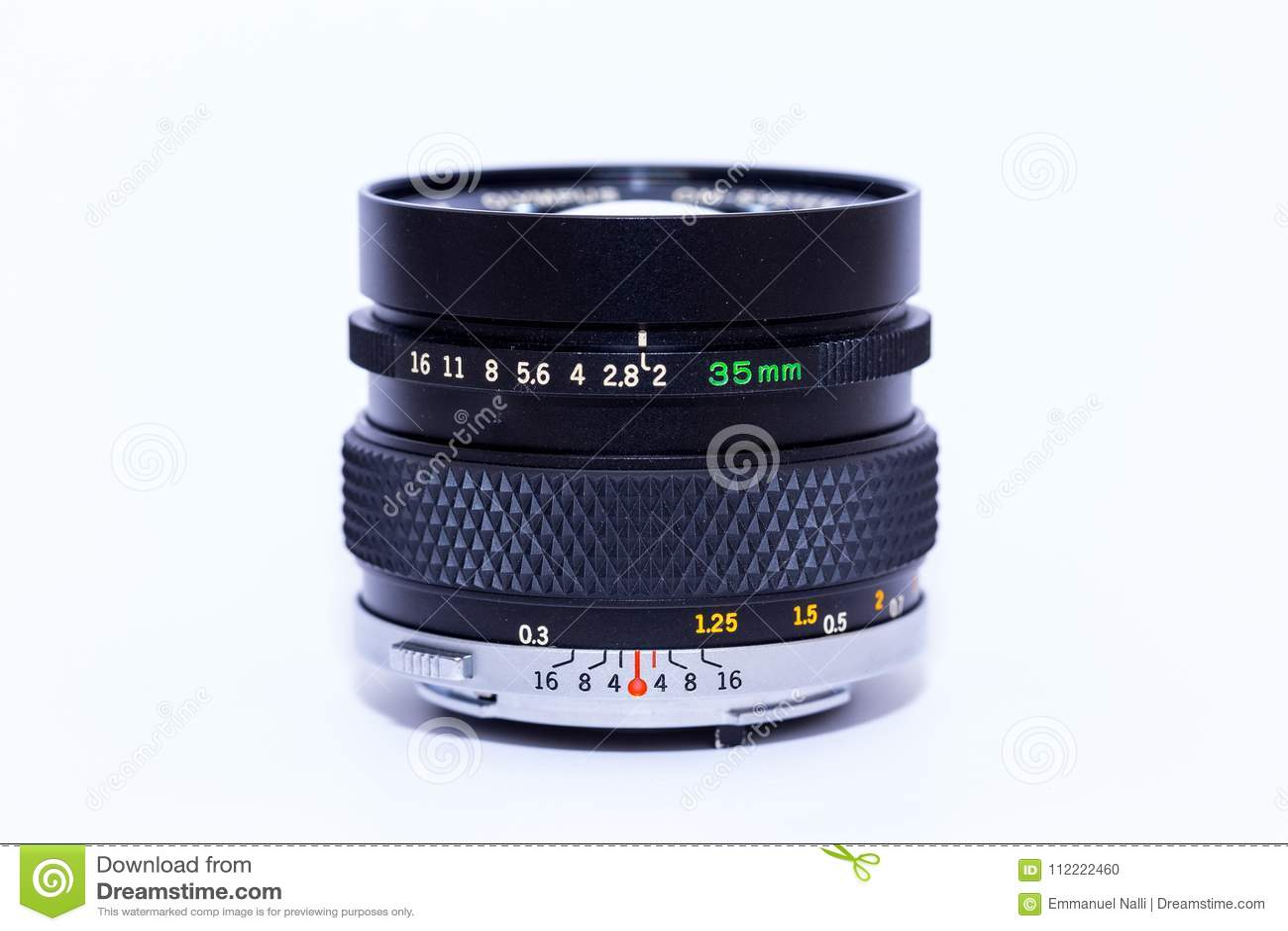An analogue 35 mm lens