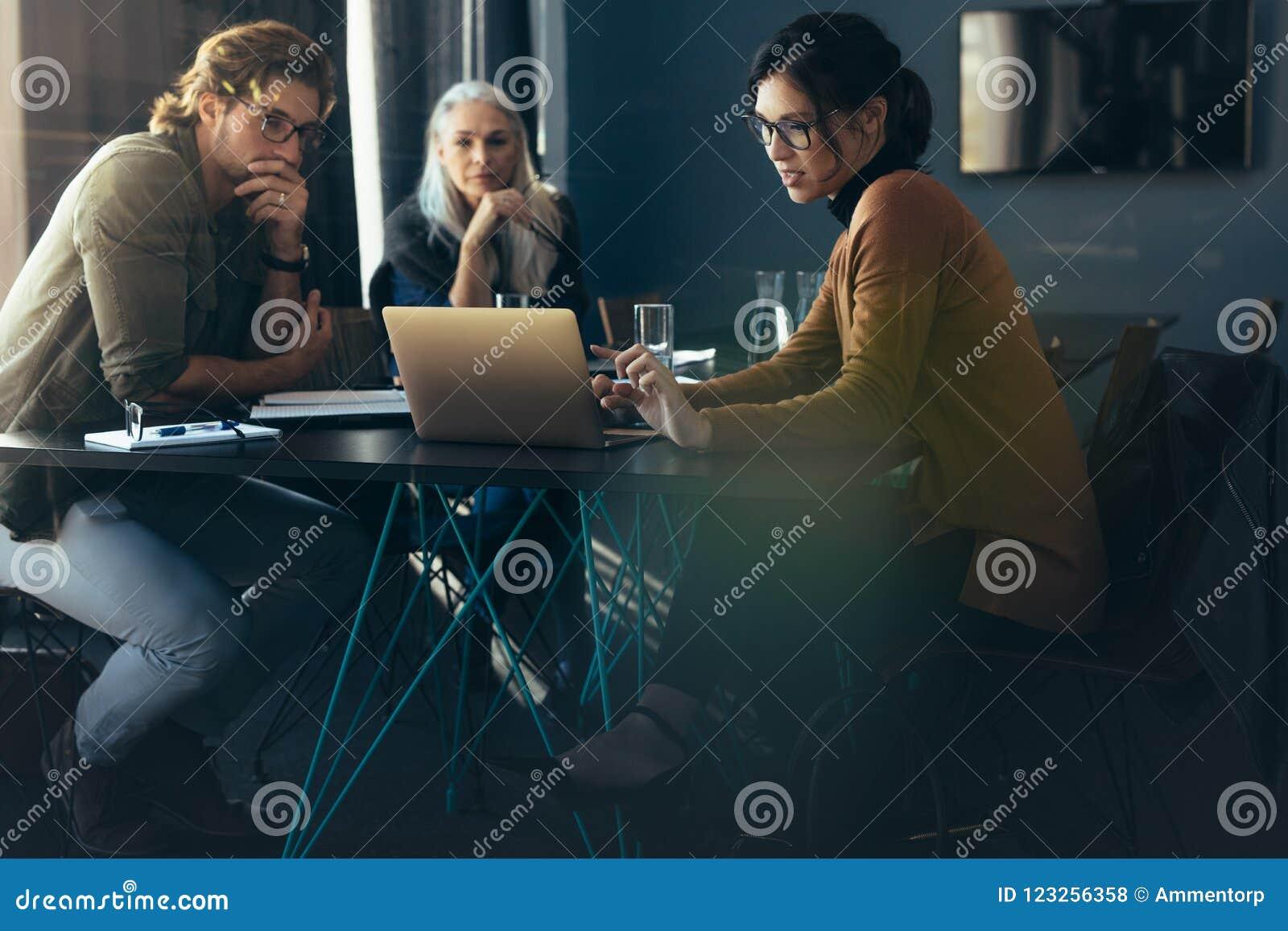 Analys för affärskvinnavisningprojekt till kollegor
